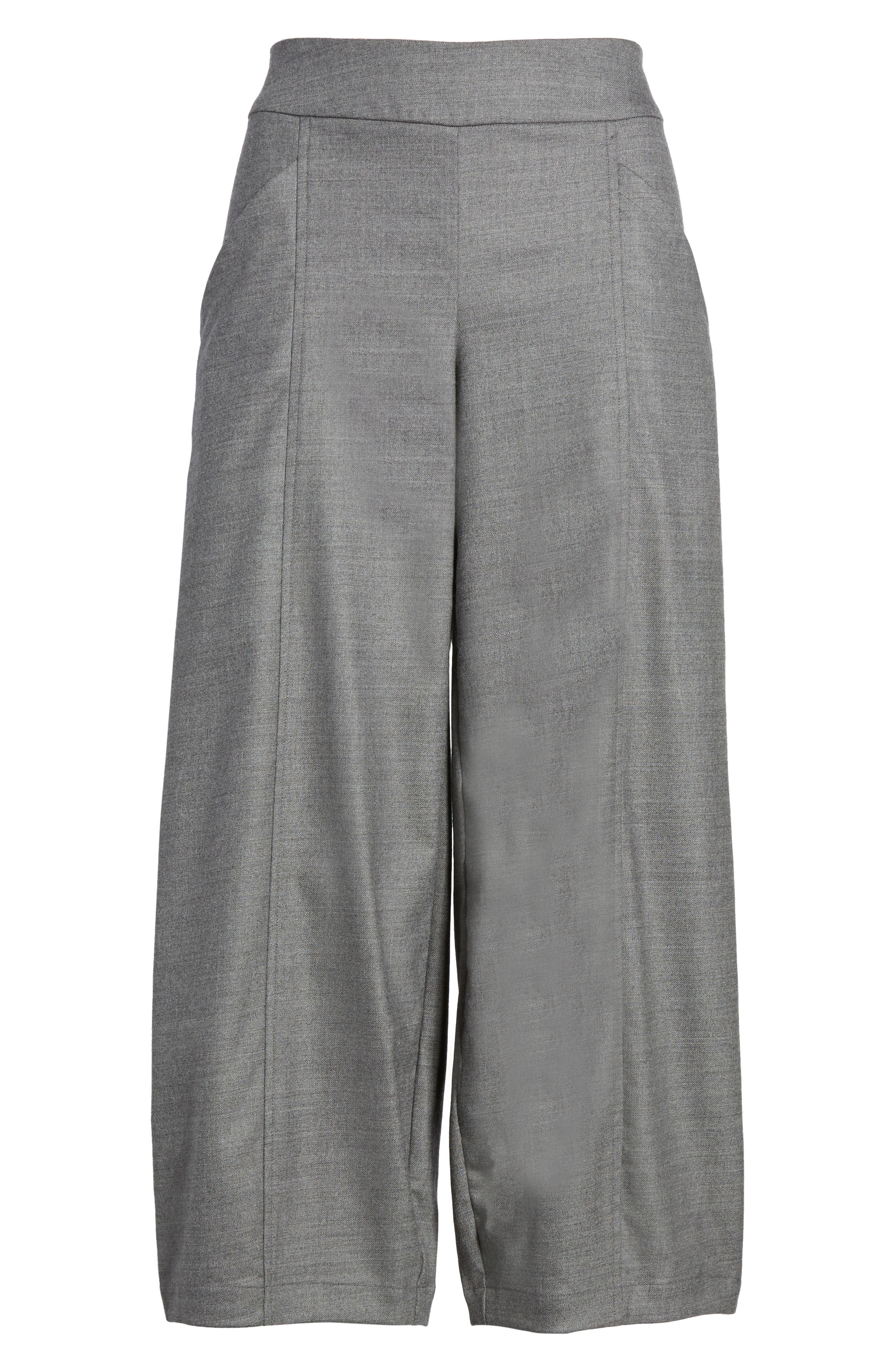 Alternate Image 6  - Eileen Fisher Crop Stretch Wool Ankle Pants