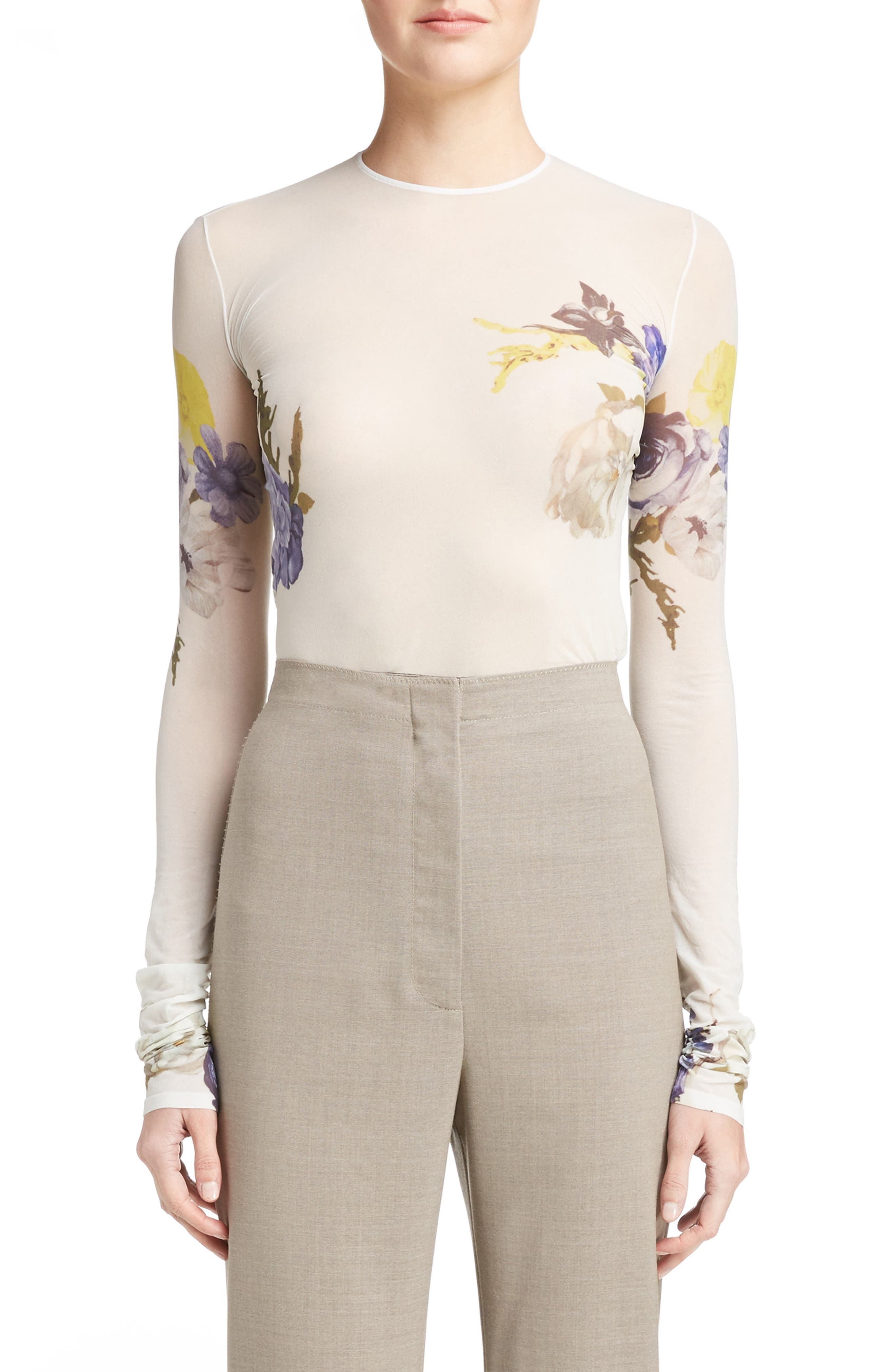ACNE Studios Niala Sheer Floral Top