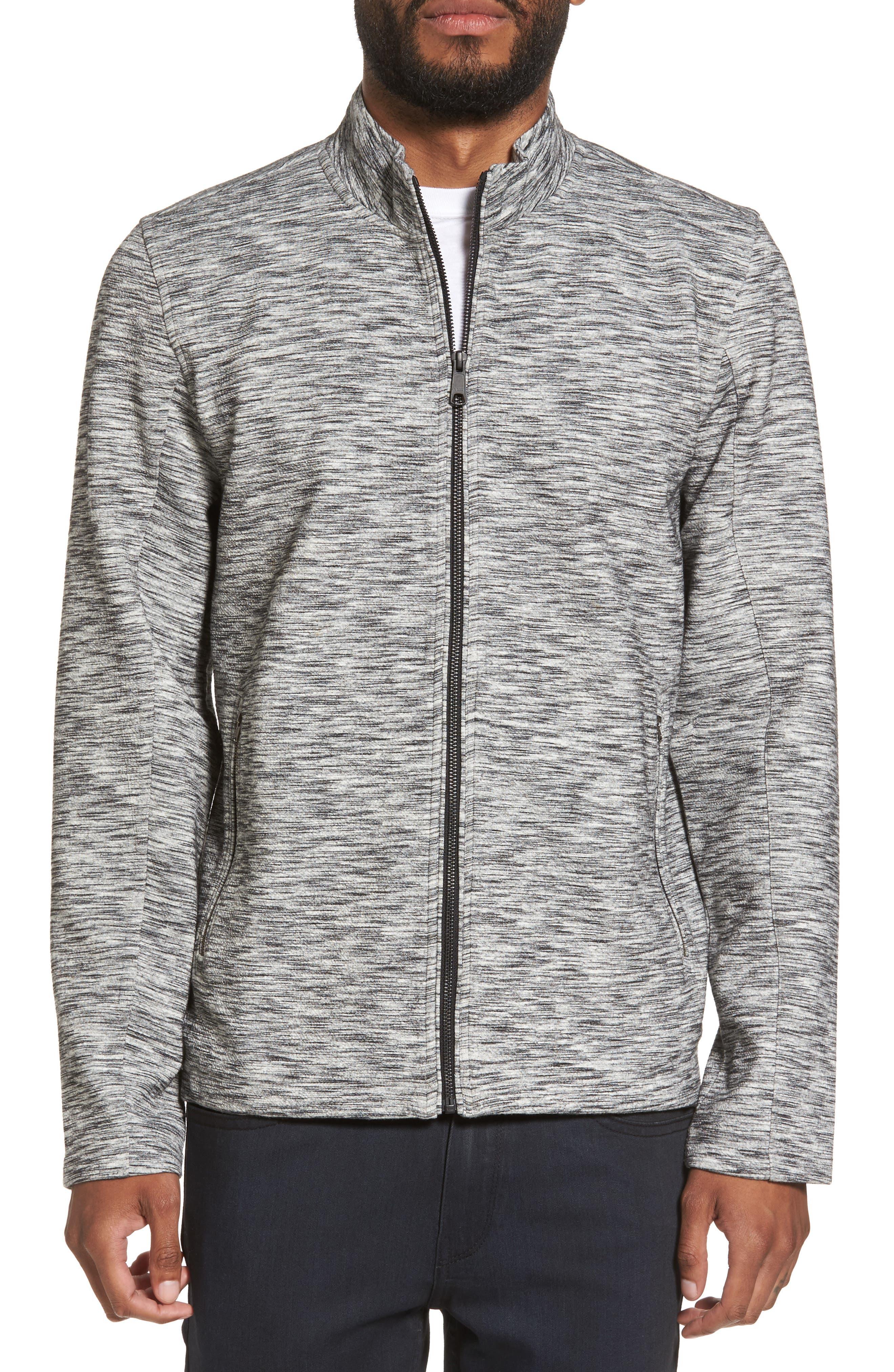 Knit Bomber Jacket,                         Main,                         color, Grey Lunar Spacedye