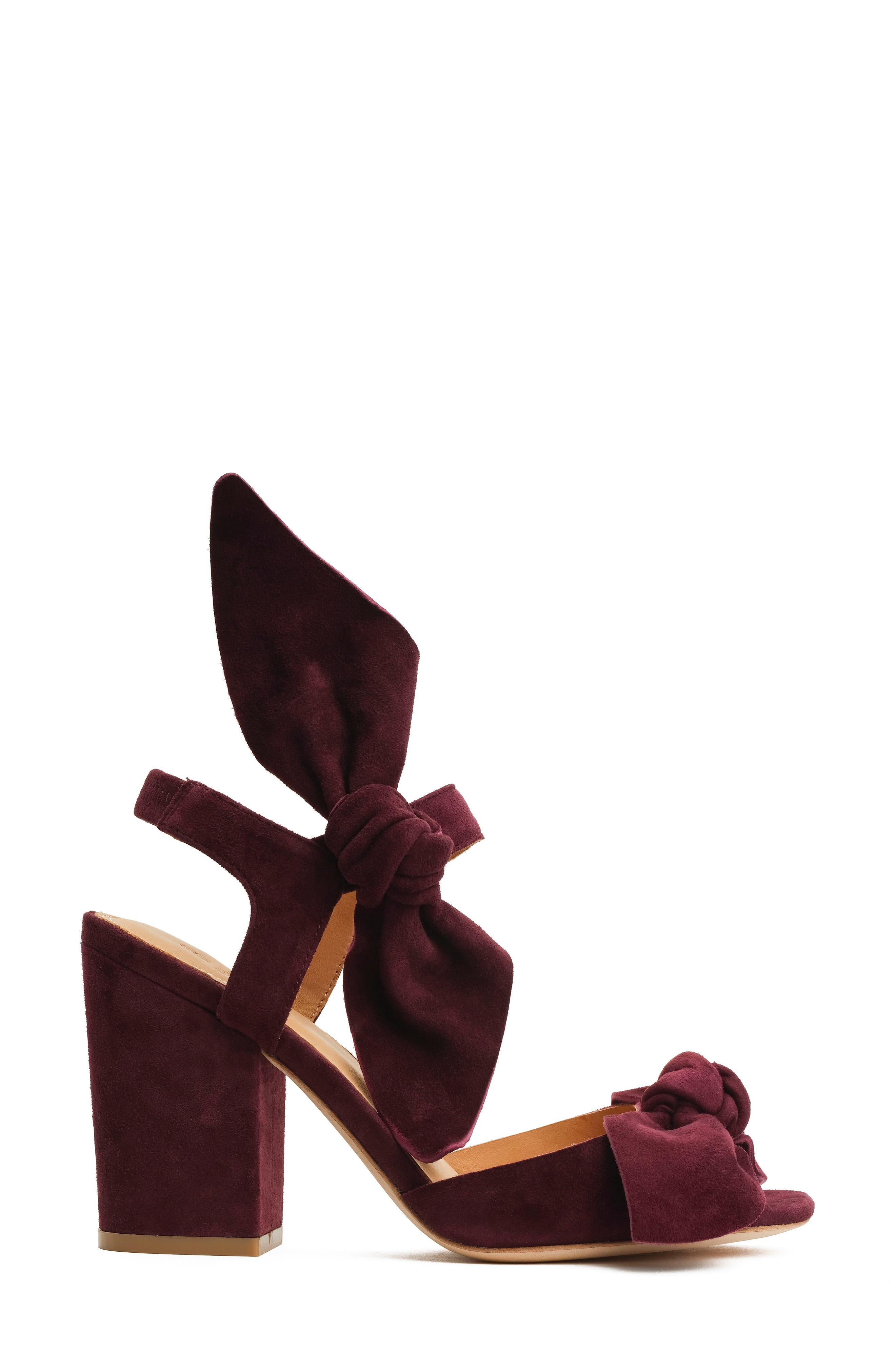 Carmen Bow Sandal,                             Alternate thumbnail 3, color,                             Wine
