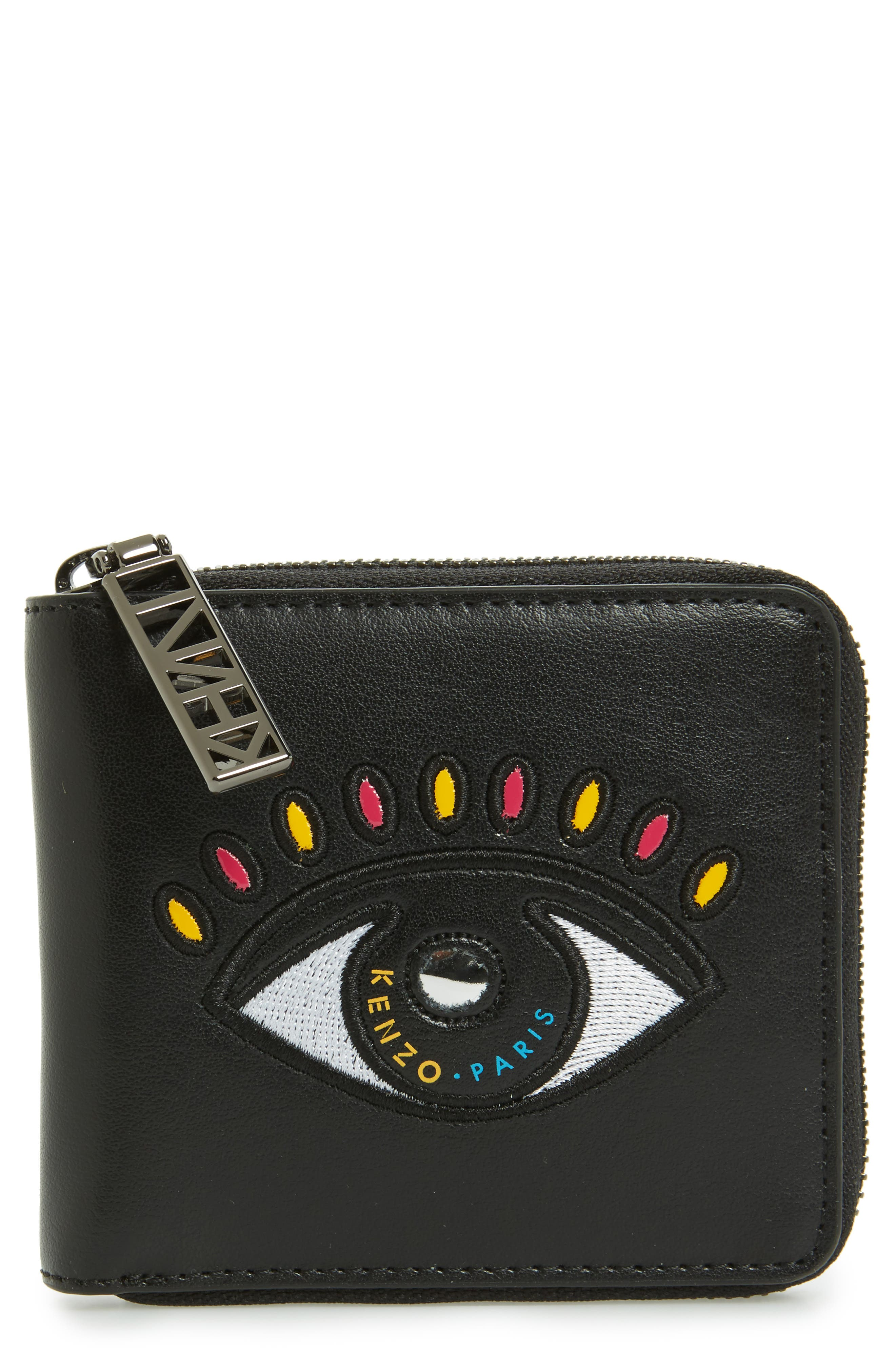 Alternate Image 1 Selected - KENZO Icons Cory Eye Squared Leather Wallet