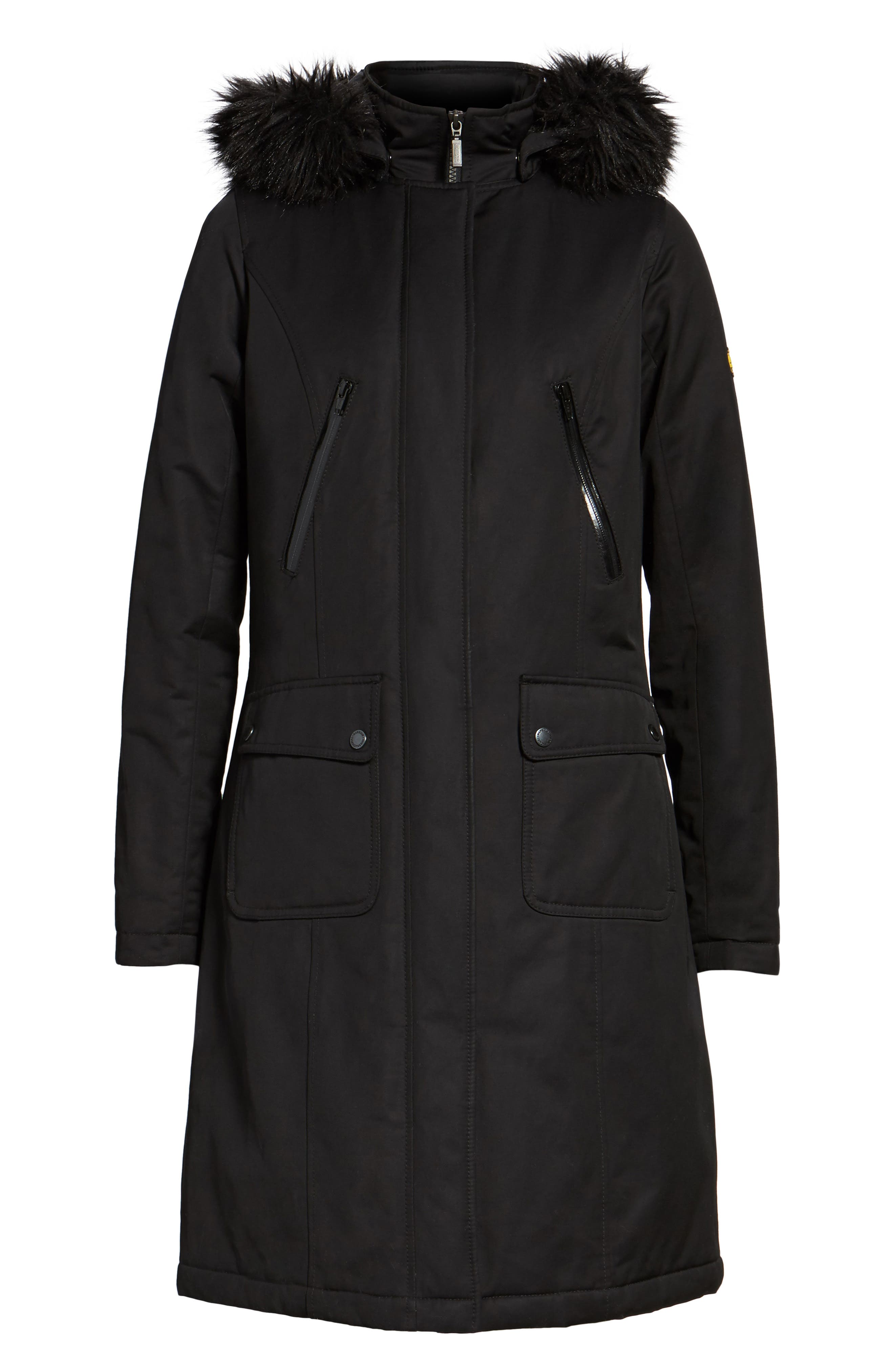 Alternate Image 5  - Barbour Mondello Hooded Water Resistant Jacket with Faux Fur Trim