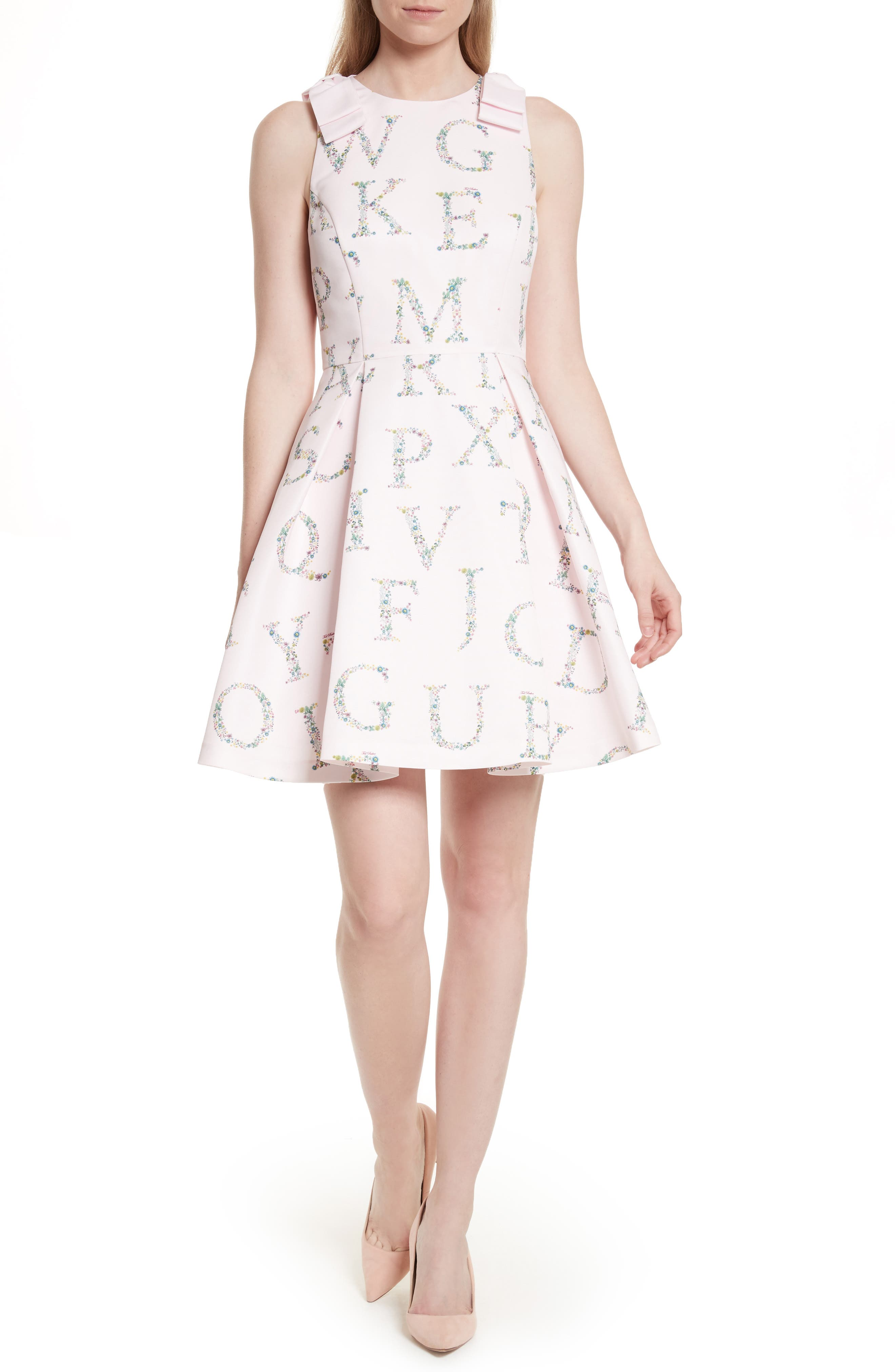 Ted Baker London Zowey Unity Floral Bow Skater Dress