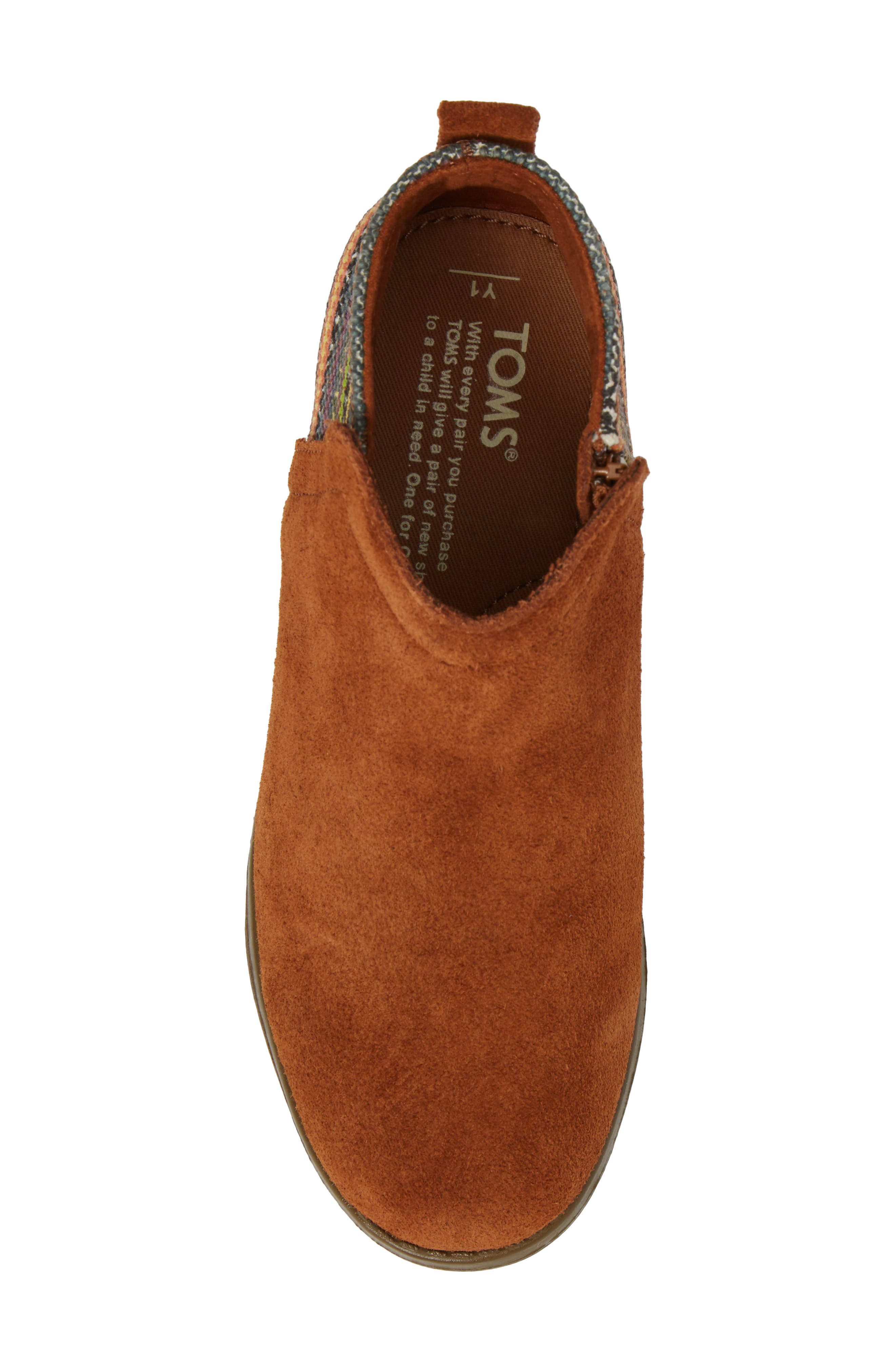 Alternate Image 5  - TOMS Deia Mixed Media Bootie (Toddler, Little Kid & Big Kid)
