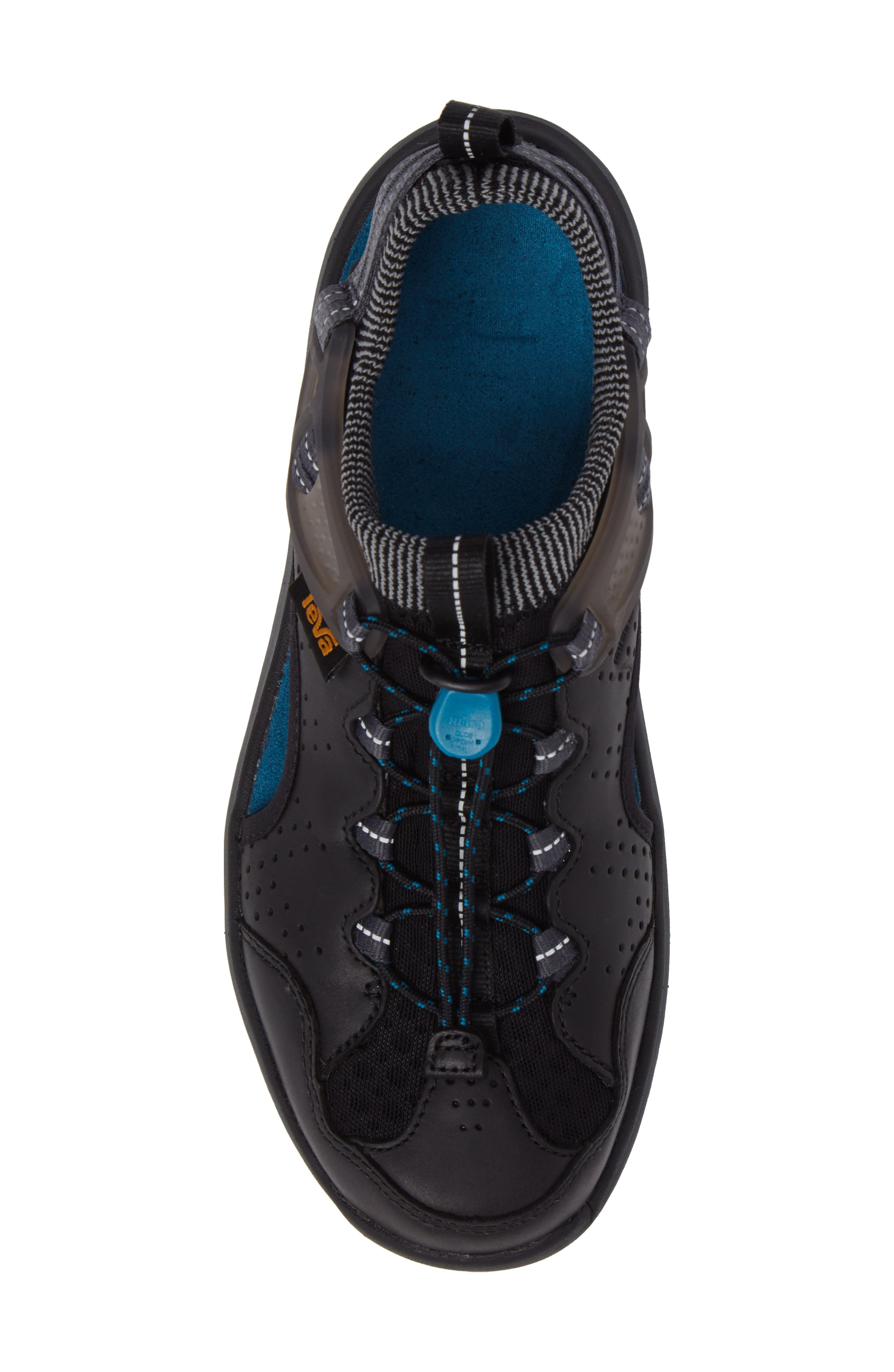 Terra Float Travel Sandal,                             Alternate thumbnail 5, color,                             Black Leather