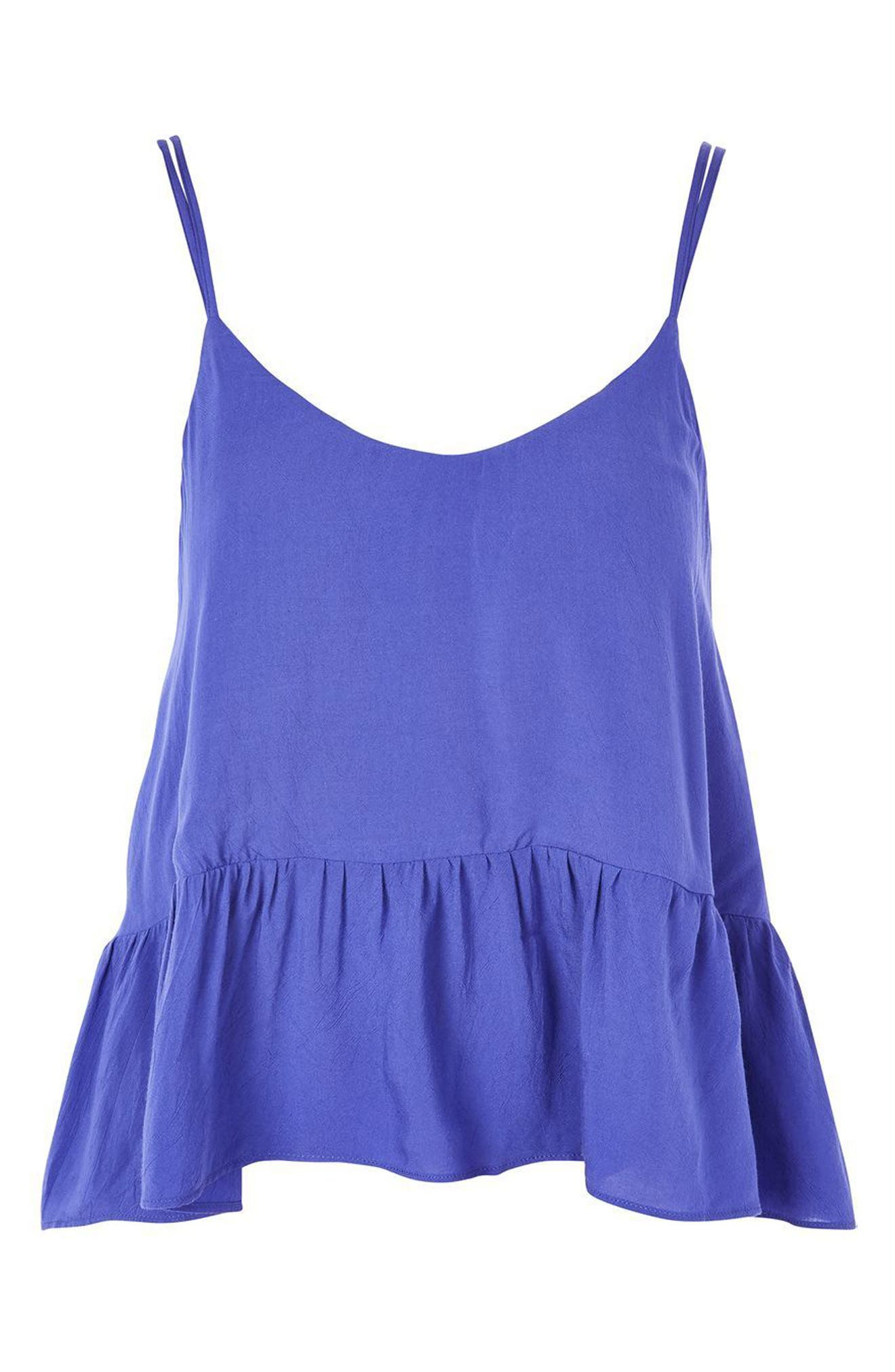 Alternate Image 3  - Topshop Peplum Camisole (Regular & Petite)