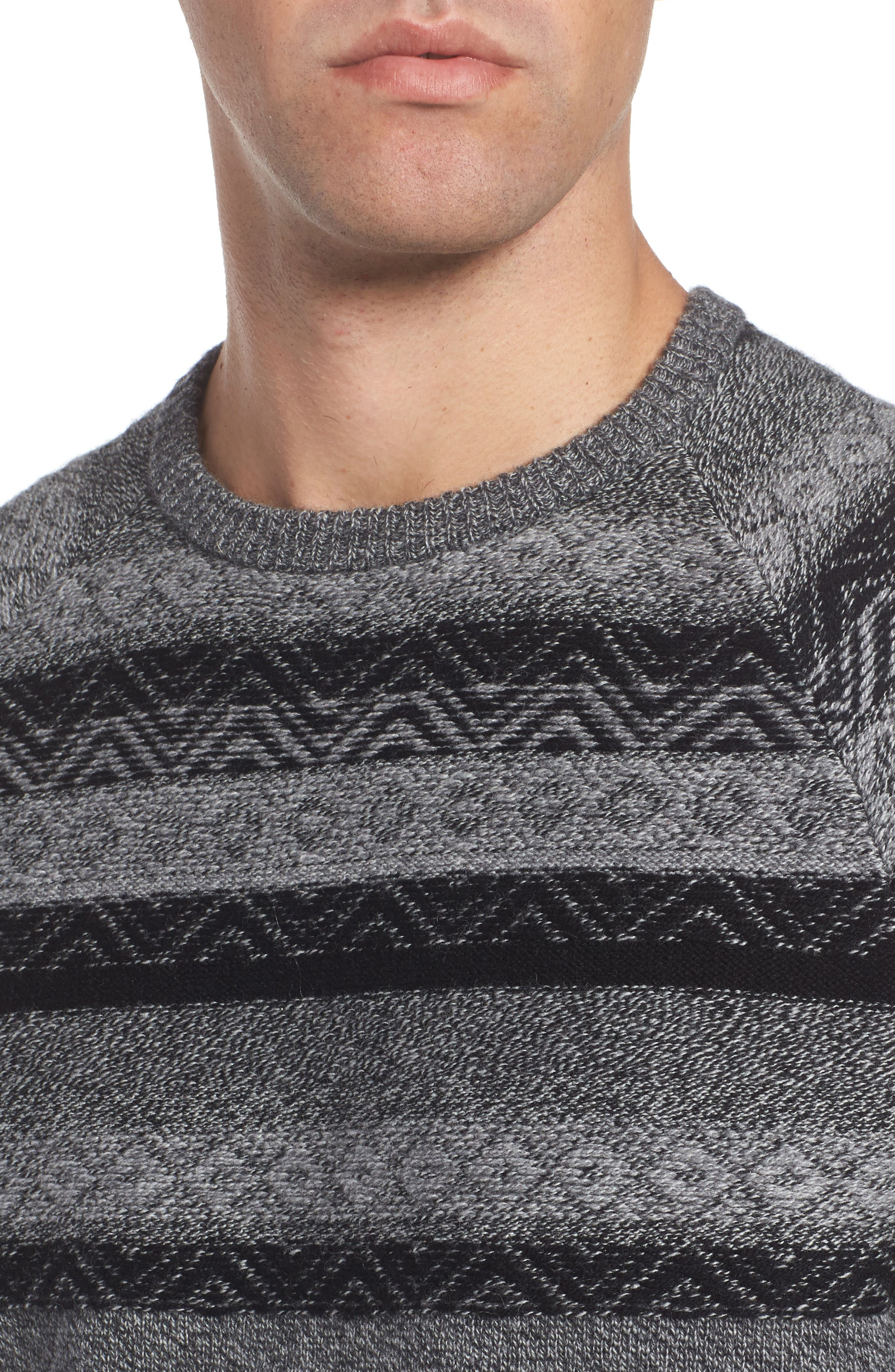 Pattern Wool & Cashmere Sweater,                             Alternate thumbnail 4, color,                             Grey Phantom