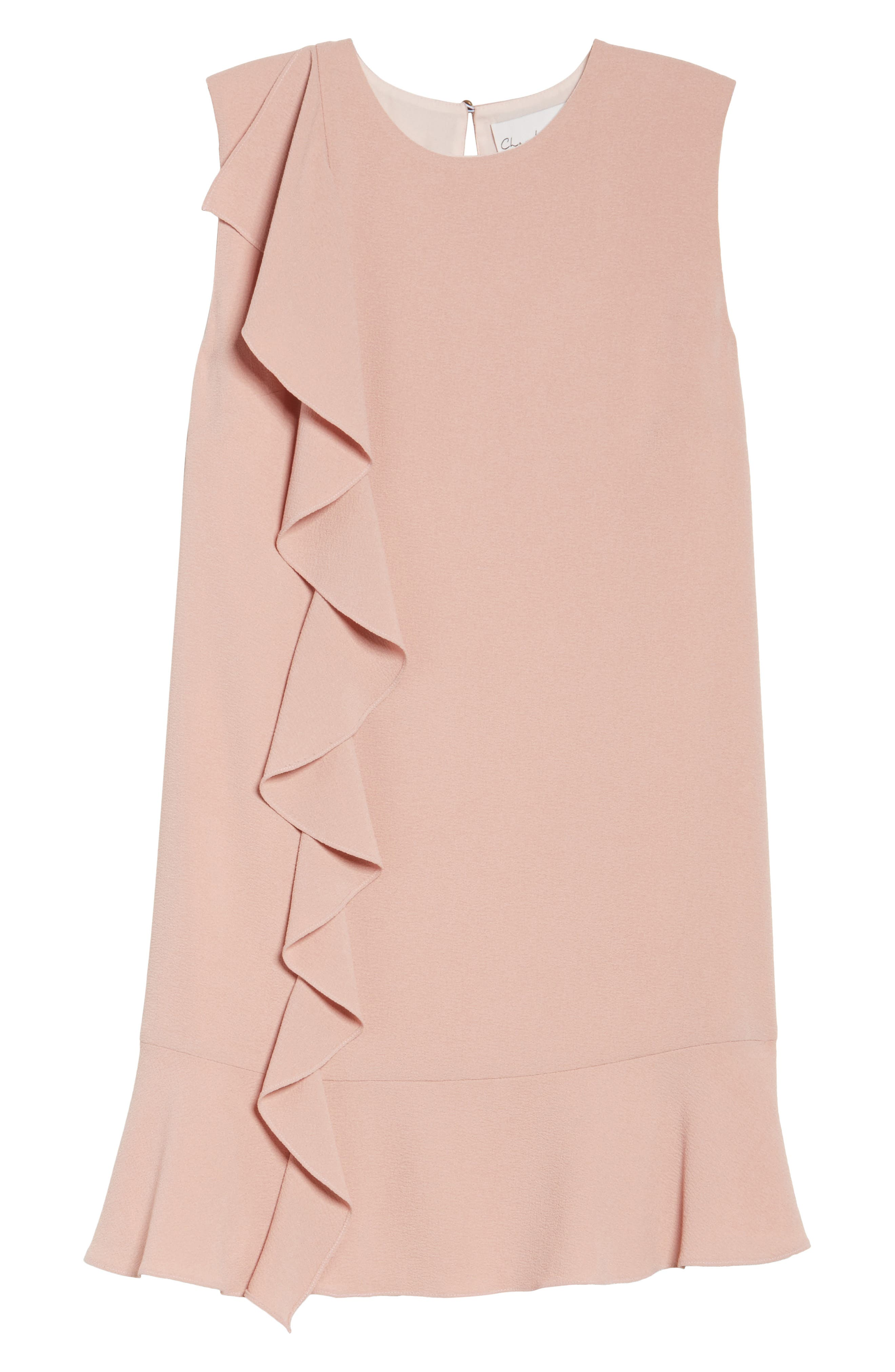 Ruffle Shift Dress,                             Alternate thumbnail 6, color,                             Blush