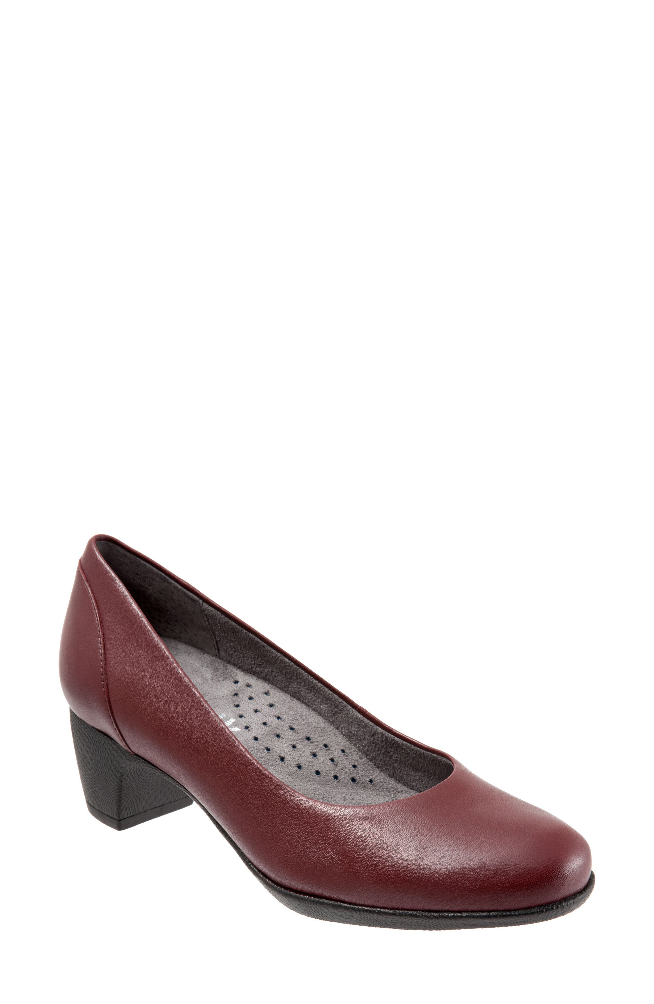 Imperial II Pump,                             Main thumbnail 1, color,                             Dark Red Leather