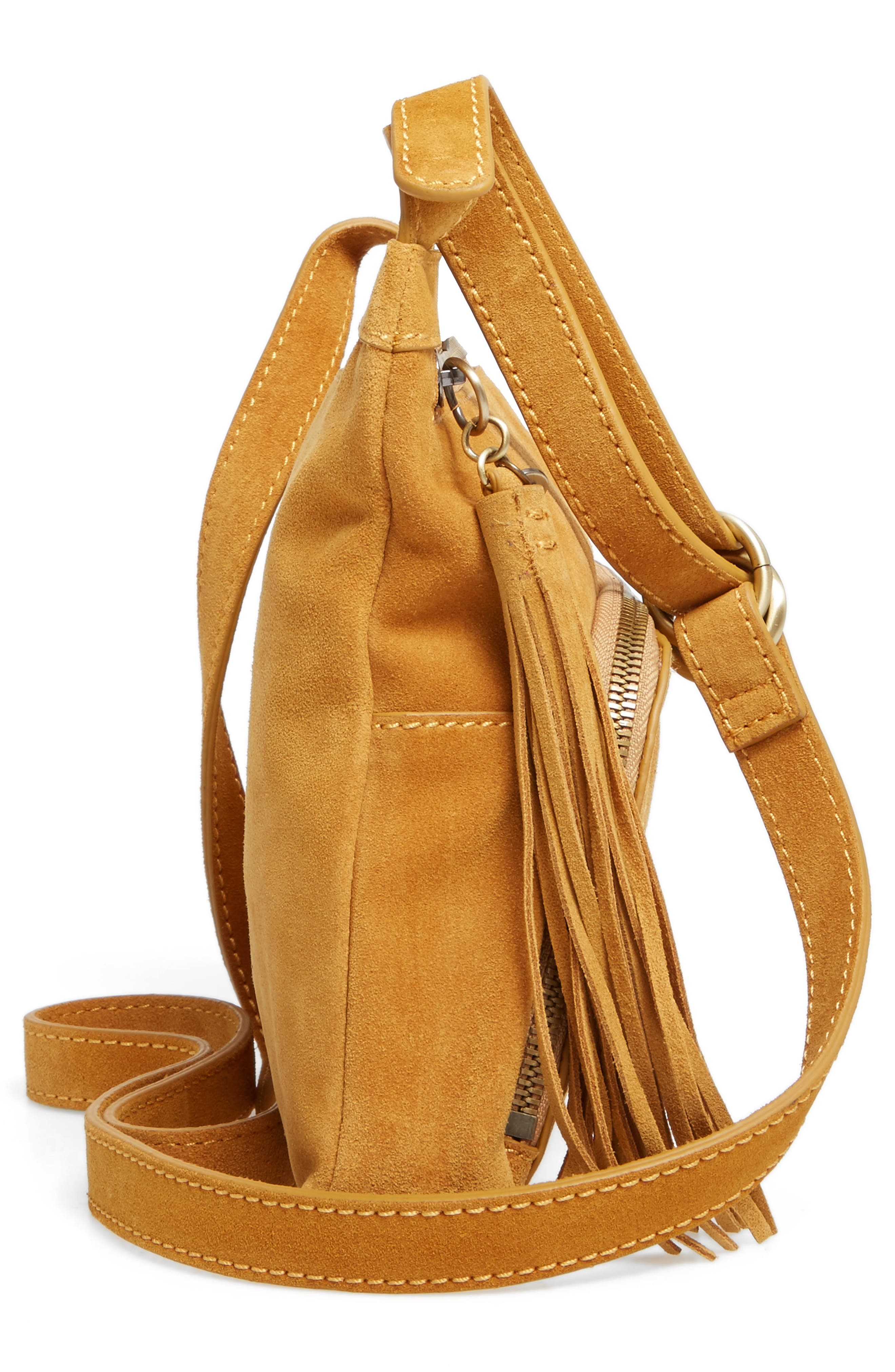 Alternate Image 5  - Hobo Cassie Calfskin Suede Crossbody Bag