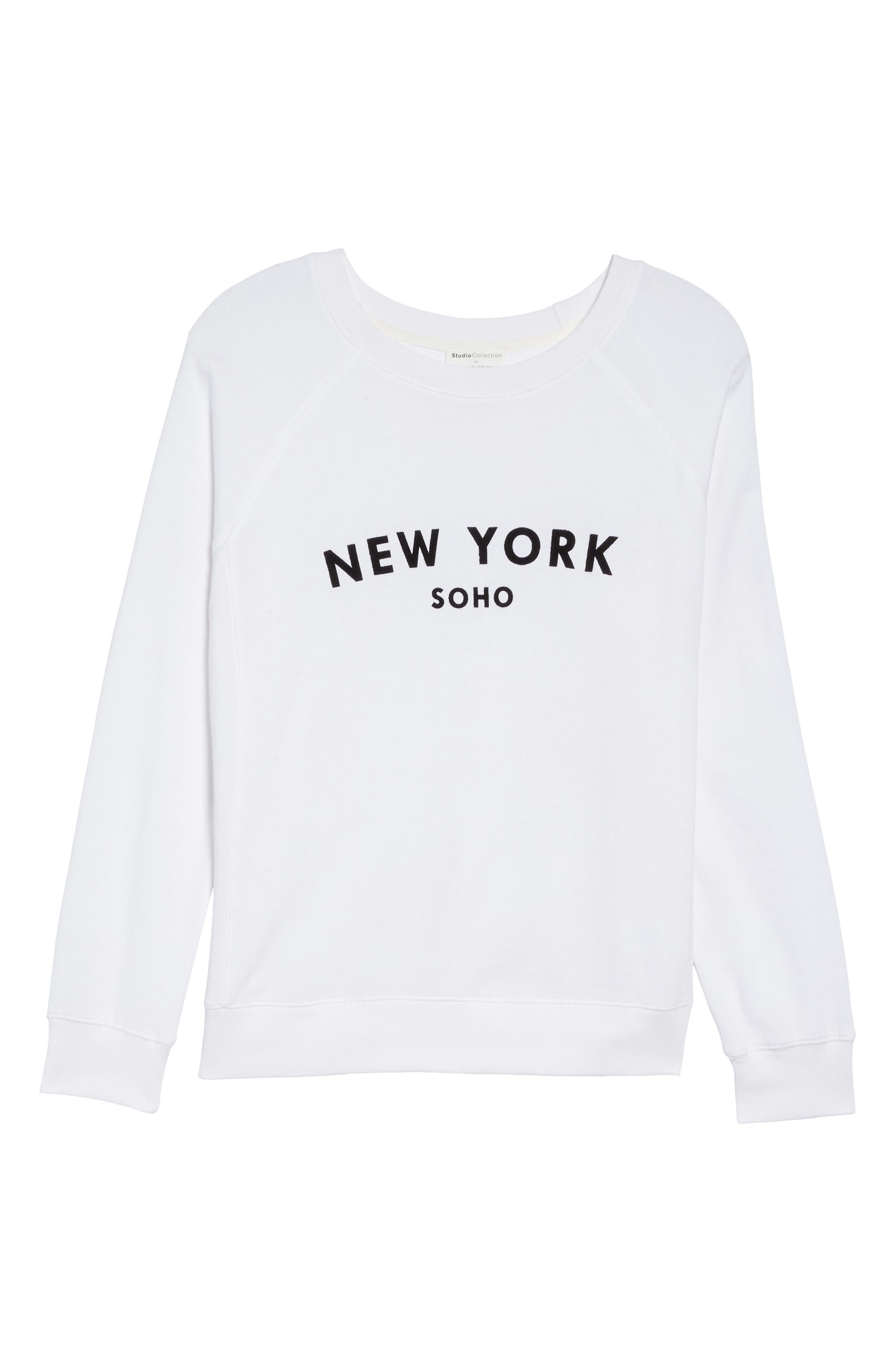 New York Soho Raglan Pullover,                             Alternate thumbnail 4, color,                             White