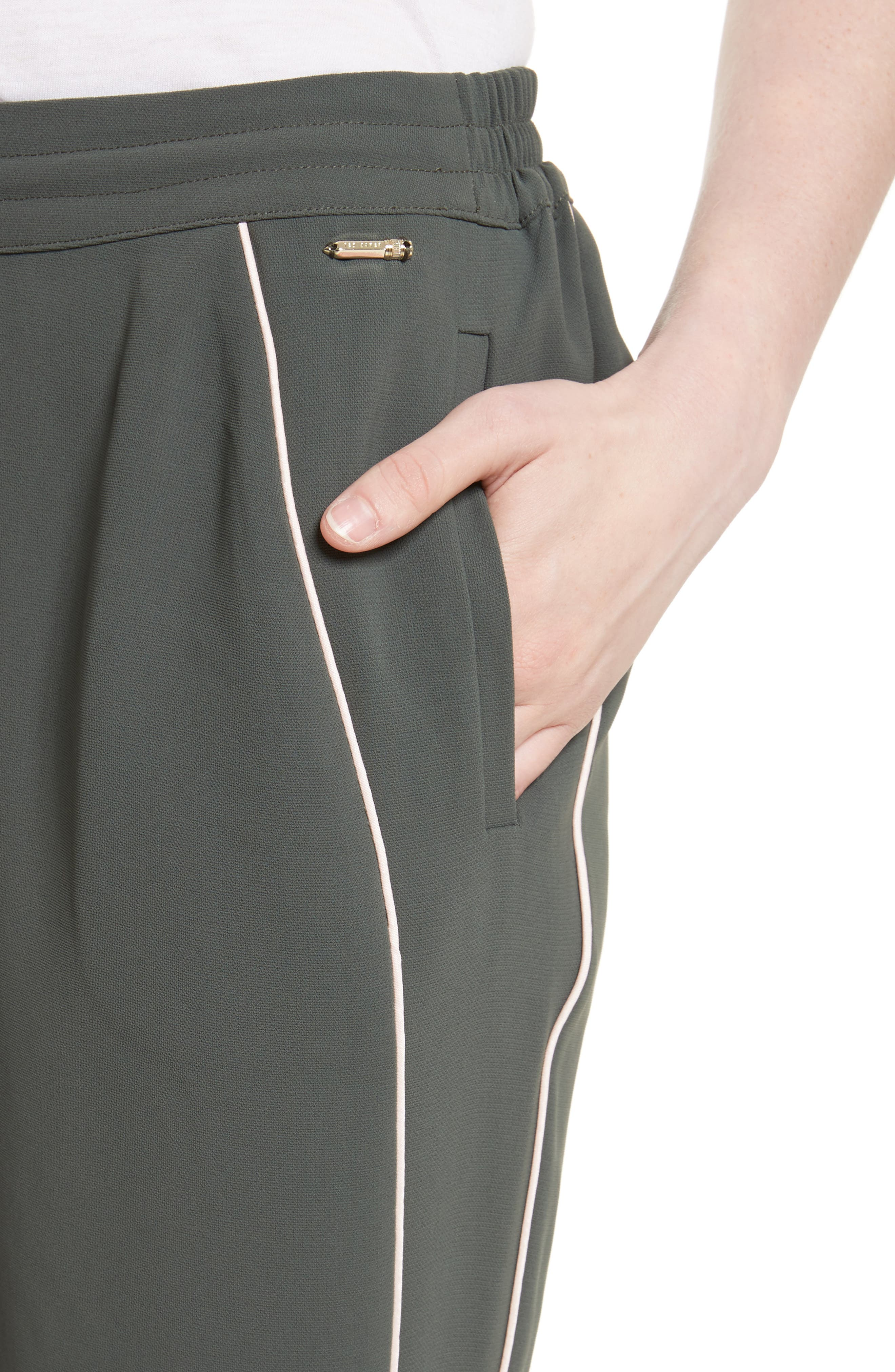 Alternate Image 4  - Ted Baker London Quenbie Piped Jogger Pants