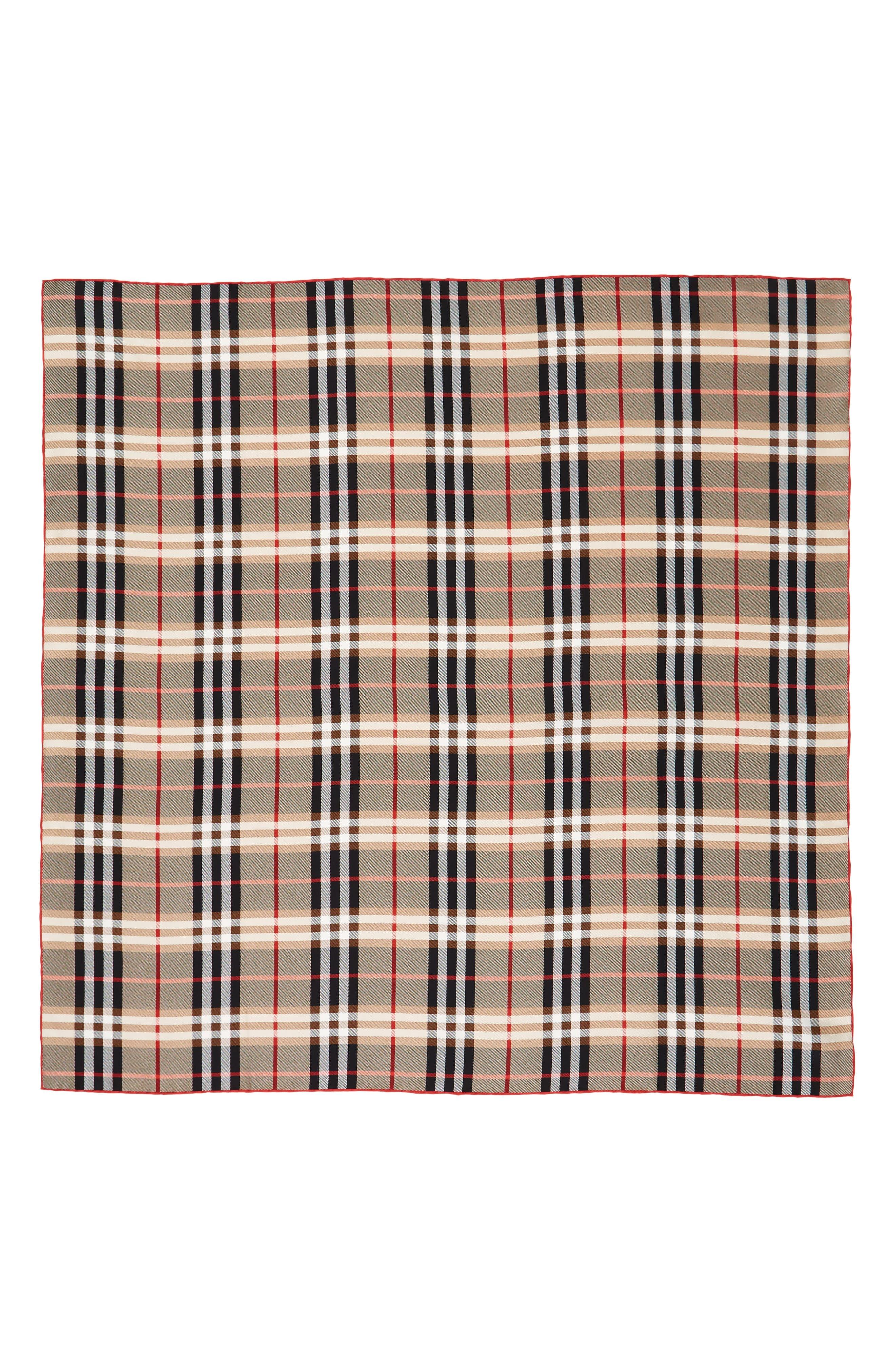 BURBERRY Castleford Check Silk Scarf