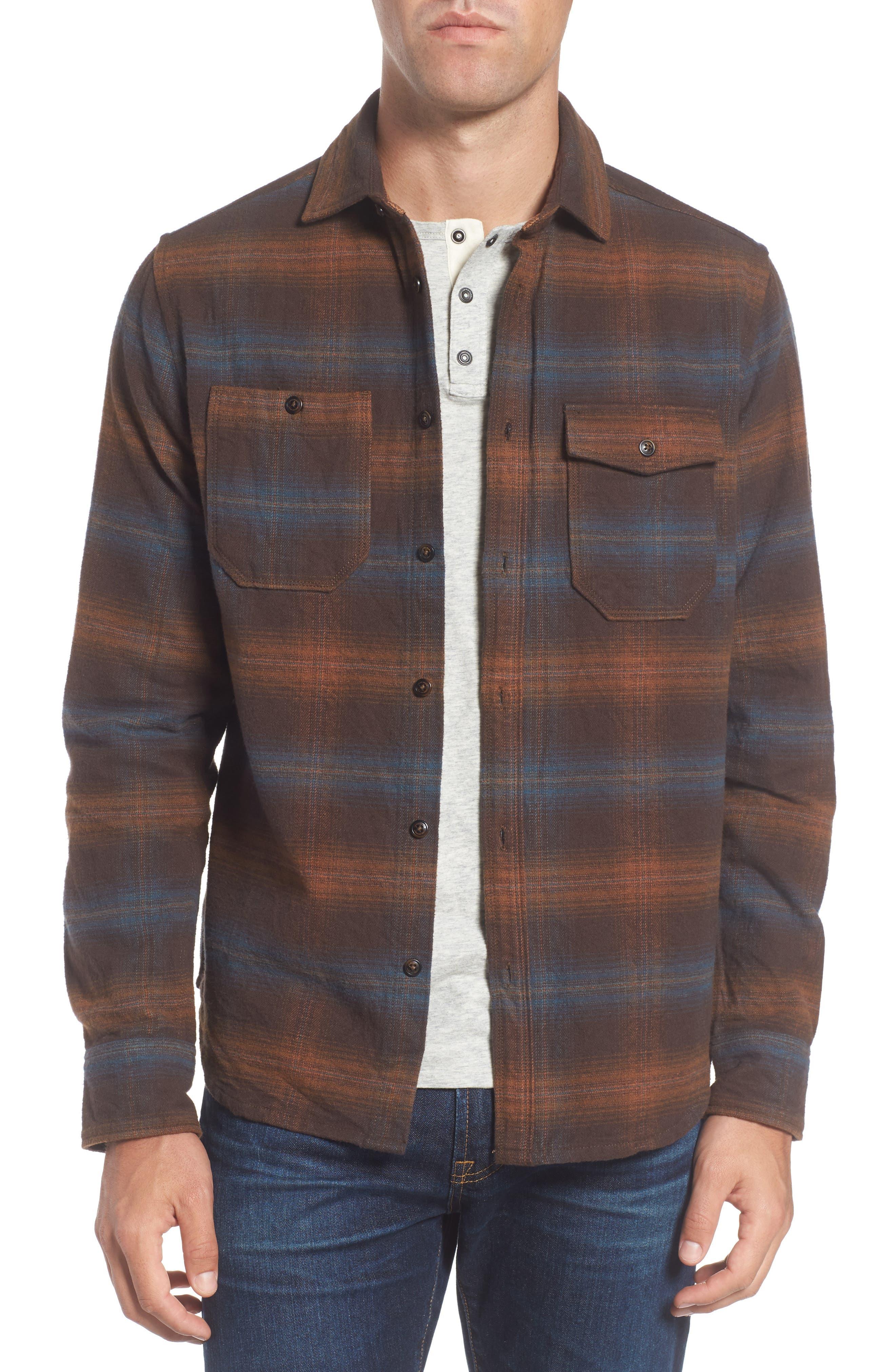 Alternate Image 1 Selected - Jeremiah Canyon Plaid Brushed Twill Shirt