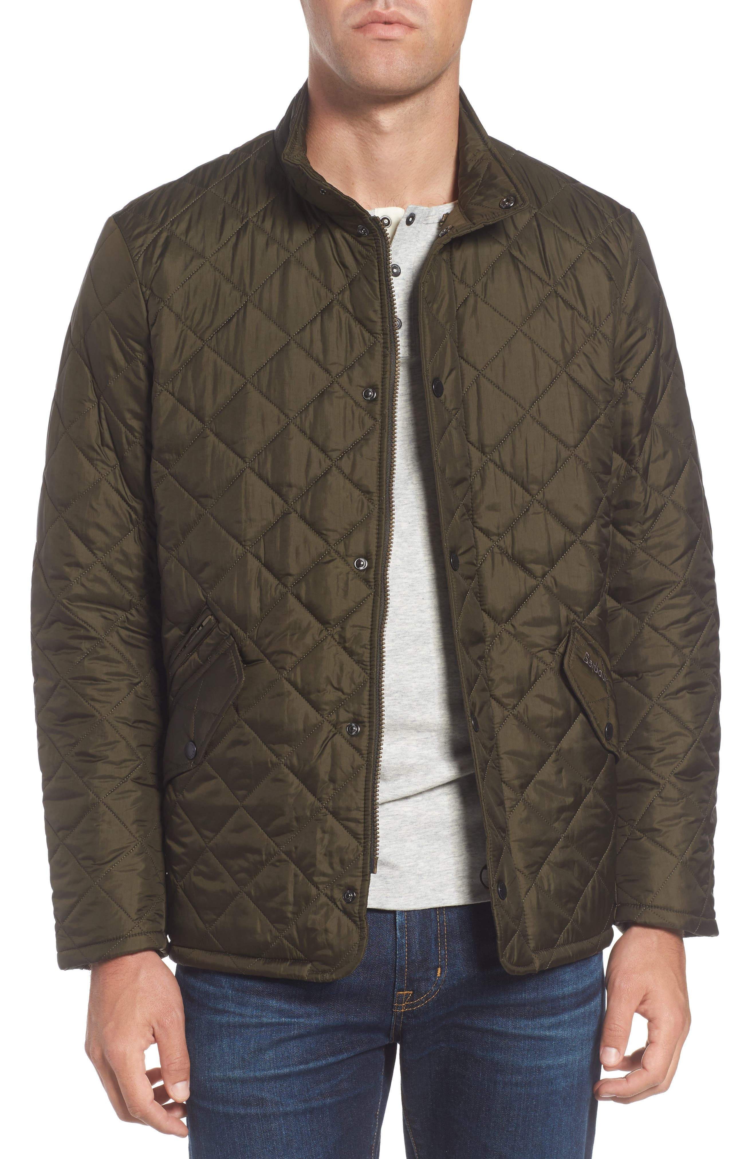 Flyweight Chelsea Quilted Jacket,                             Main thumbnail 1, color,                             Olive