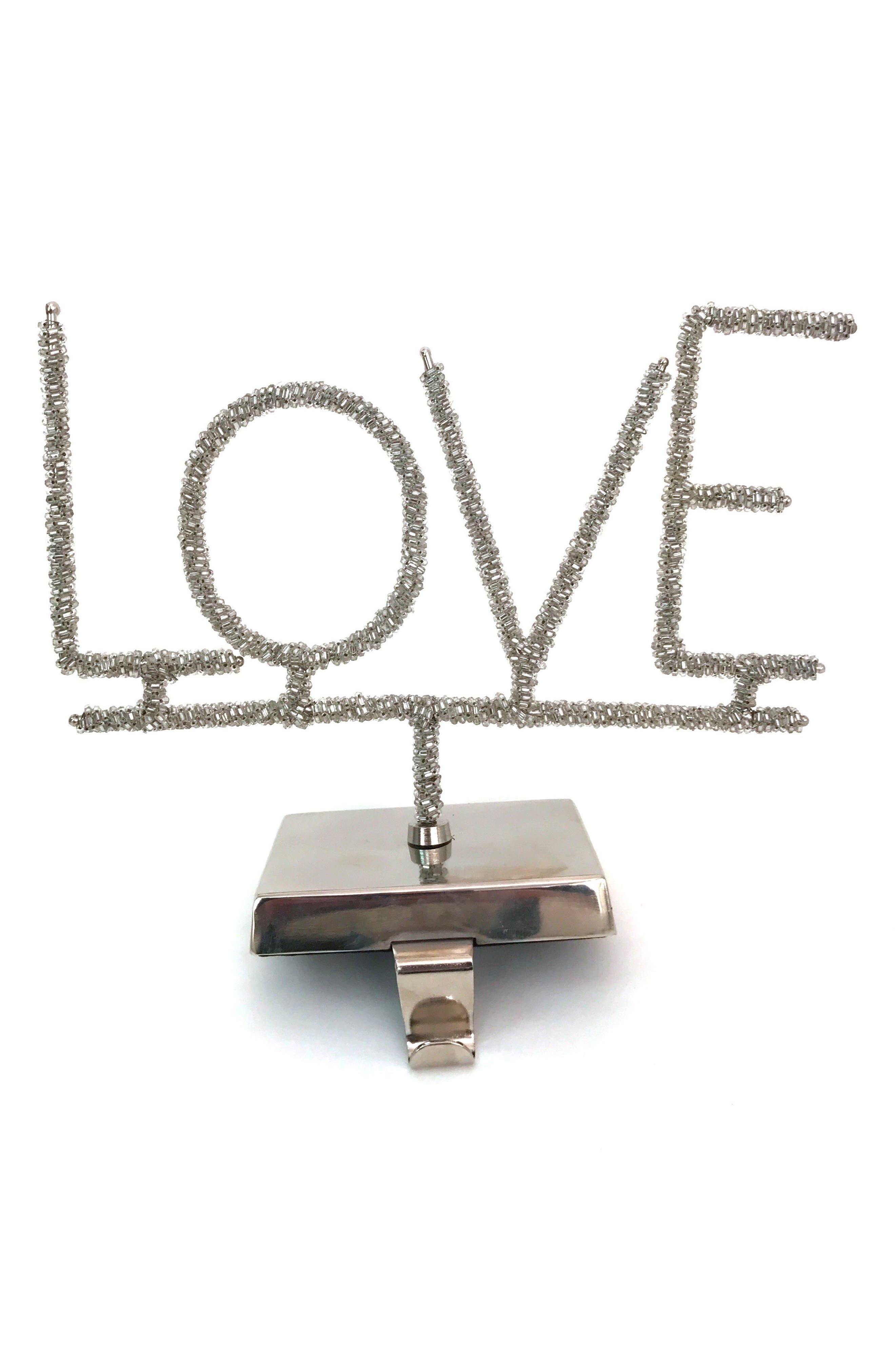 Love Stocking Holder,                         Main,                         color, Silver Stones