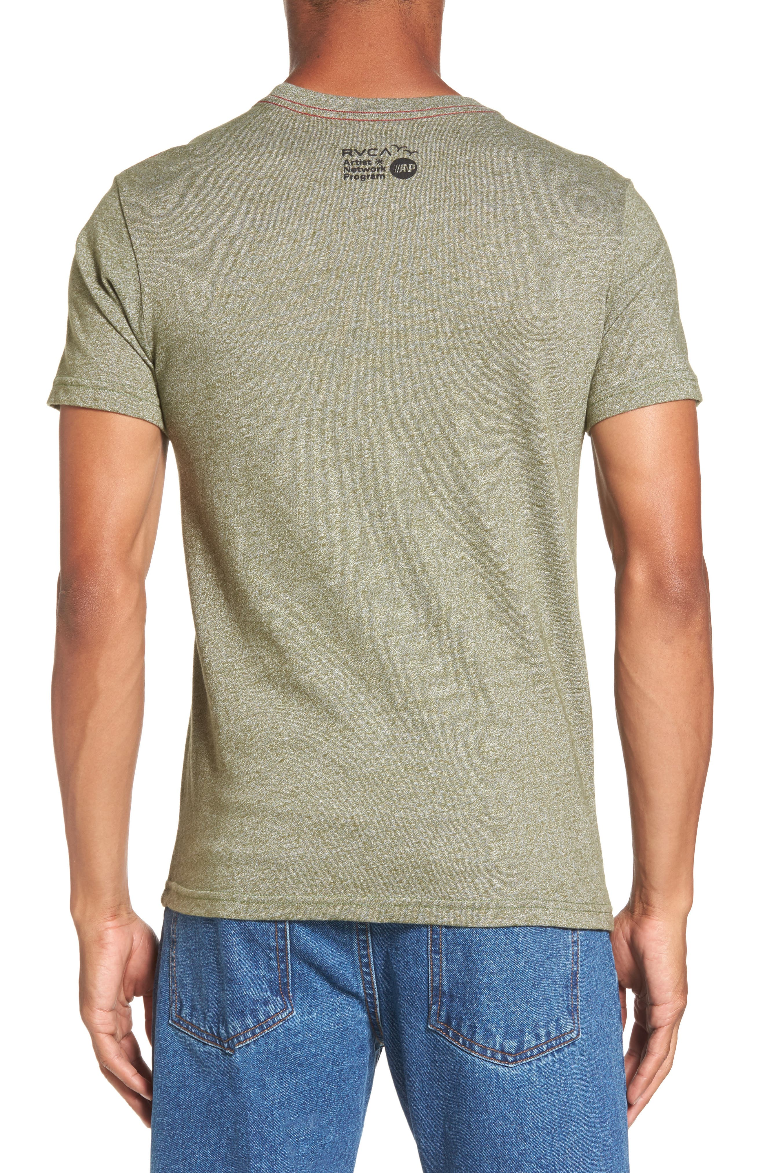 Panther Graphic T-Shirt,                             Alternate thumbnail 2, color,                             Burnt Olive