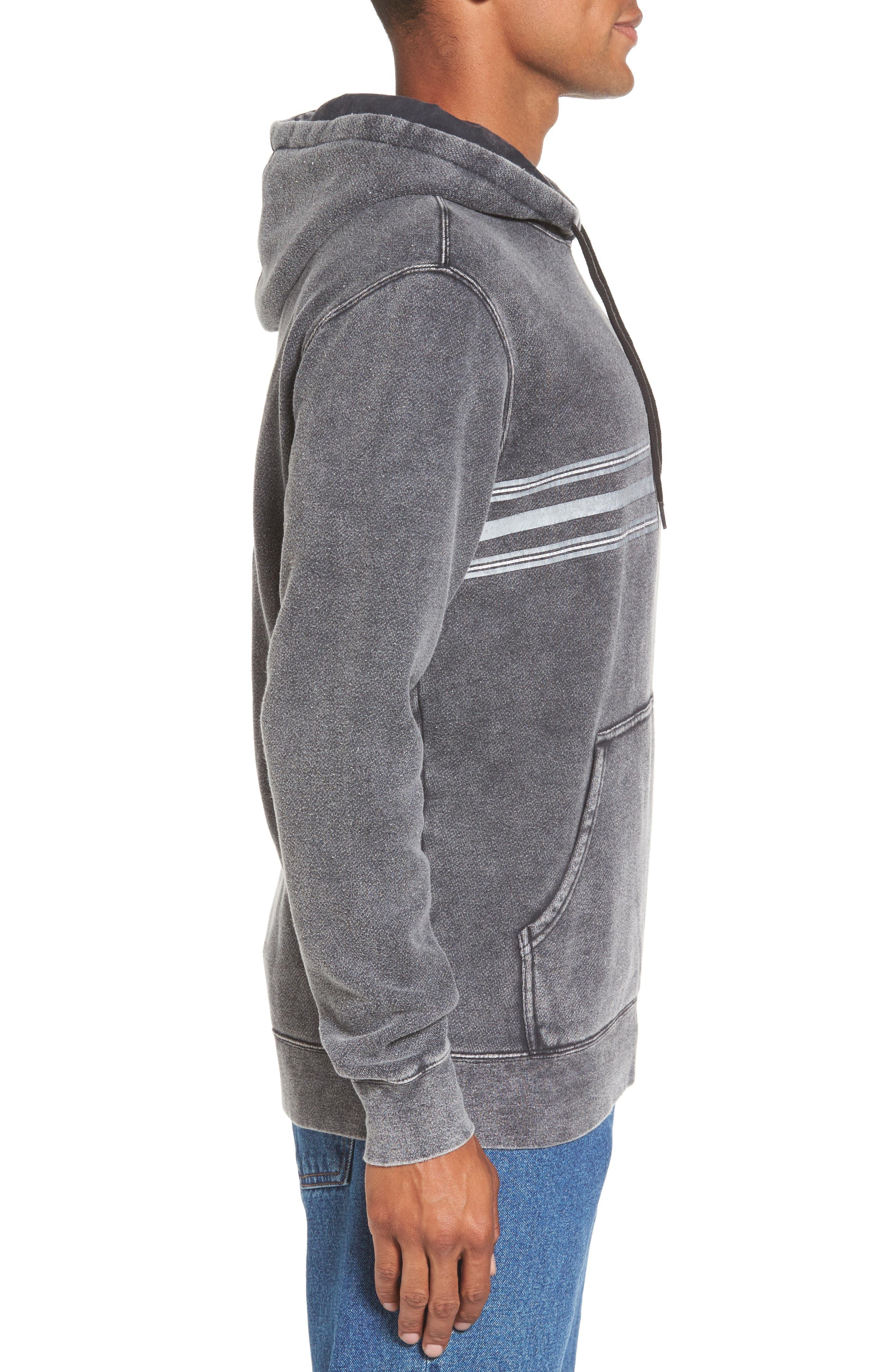 Alternate Image 3  - RVCA Seven Stripe Fleece Hoodie