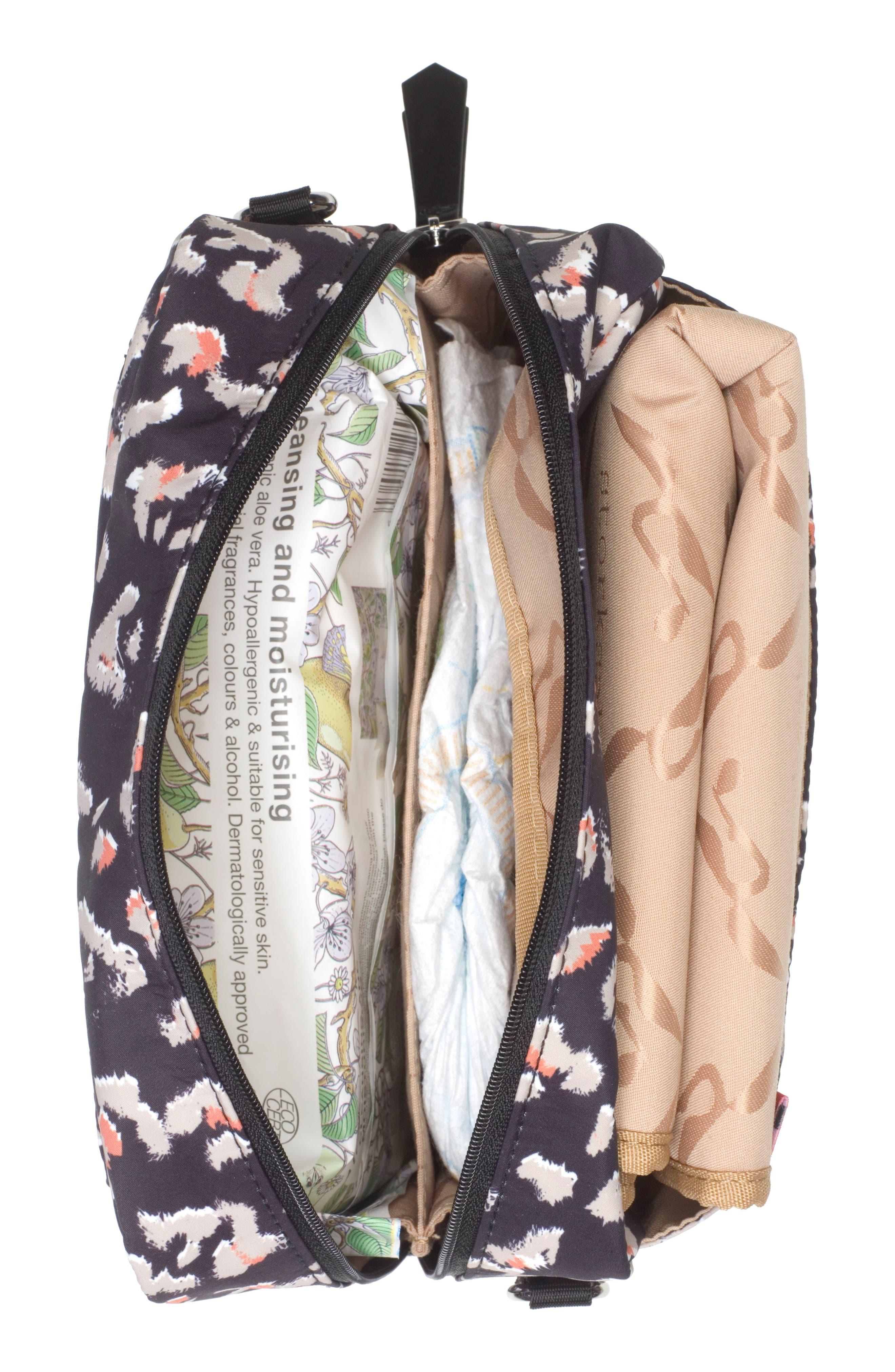Mini Fix Crossbody Diaper Bag,                             Alternate thumbnail 4, color,                             Leopard
