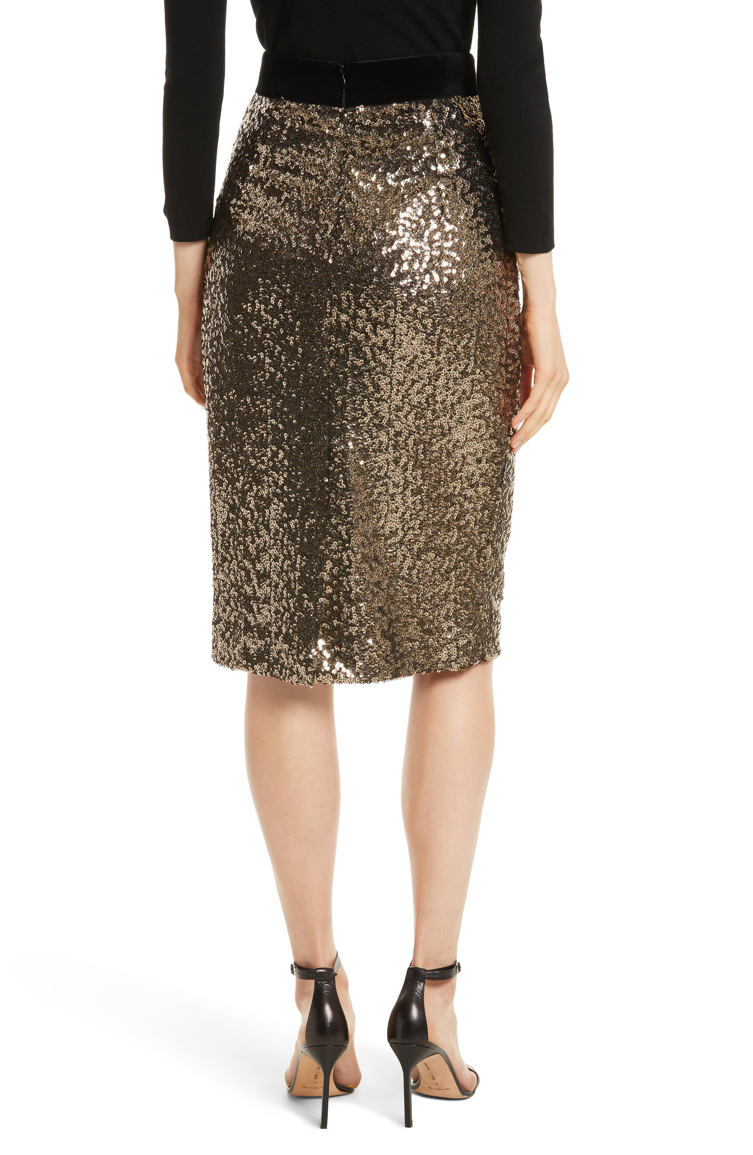 Alternate Image 2  - Milly Classic Sequin Pencil Skirt
