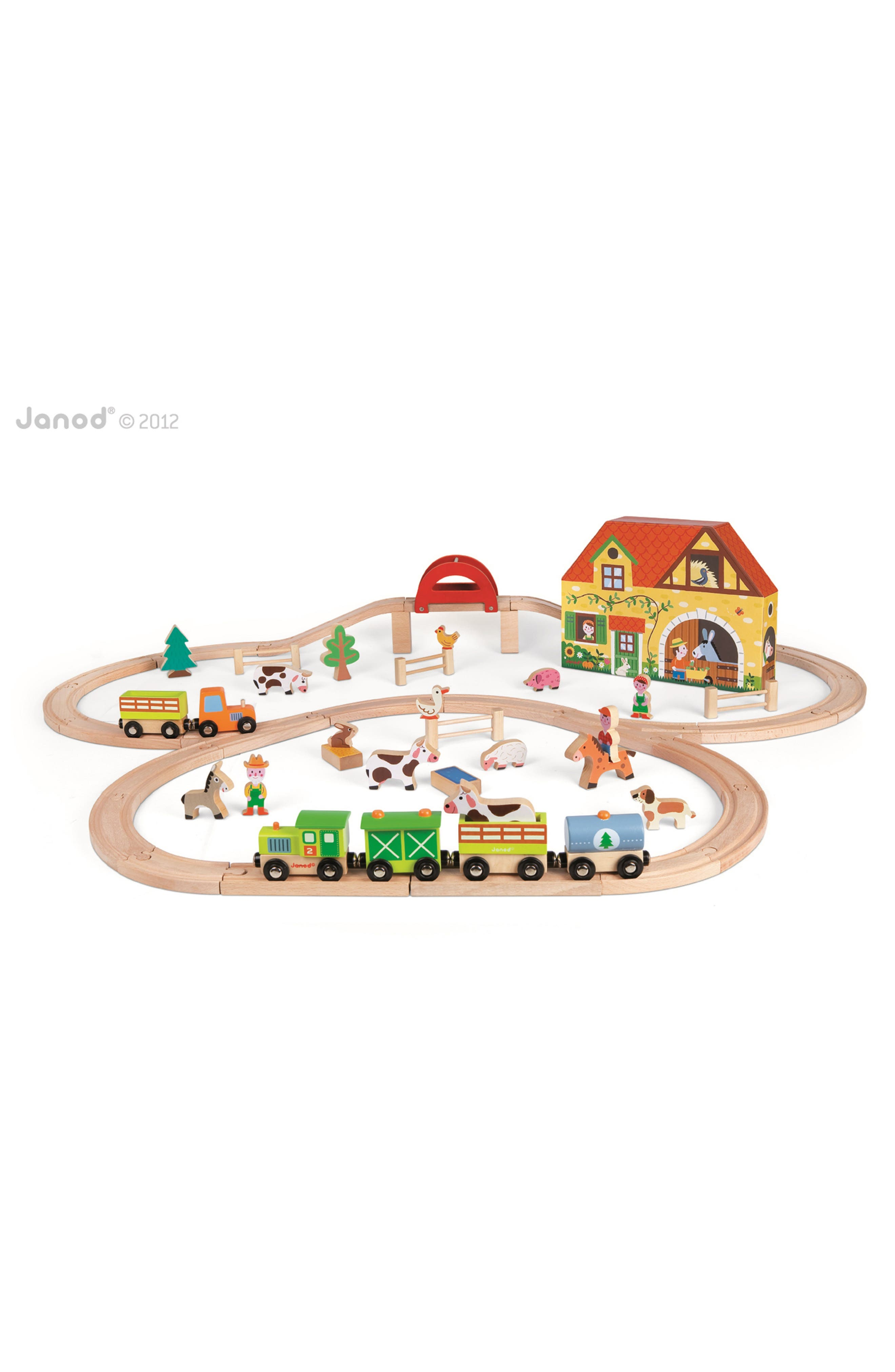 Alternate Image 1 Selected - Janod 'Story Express - Farm' Train Set