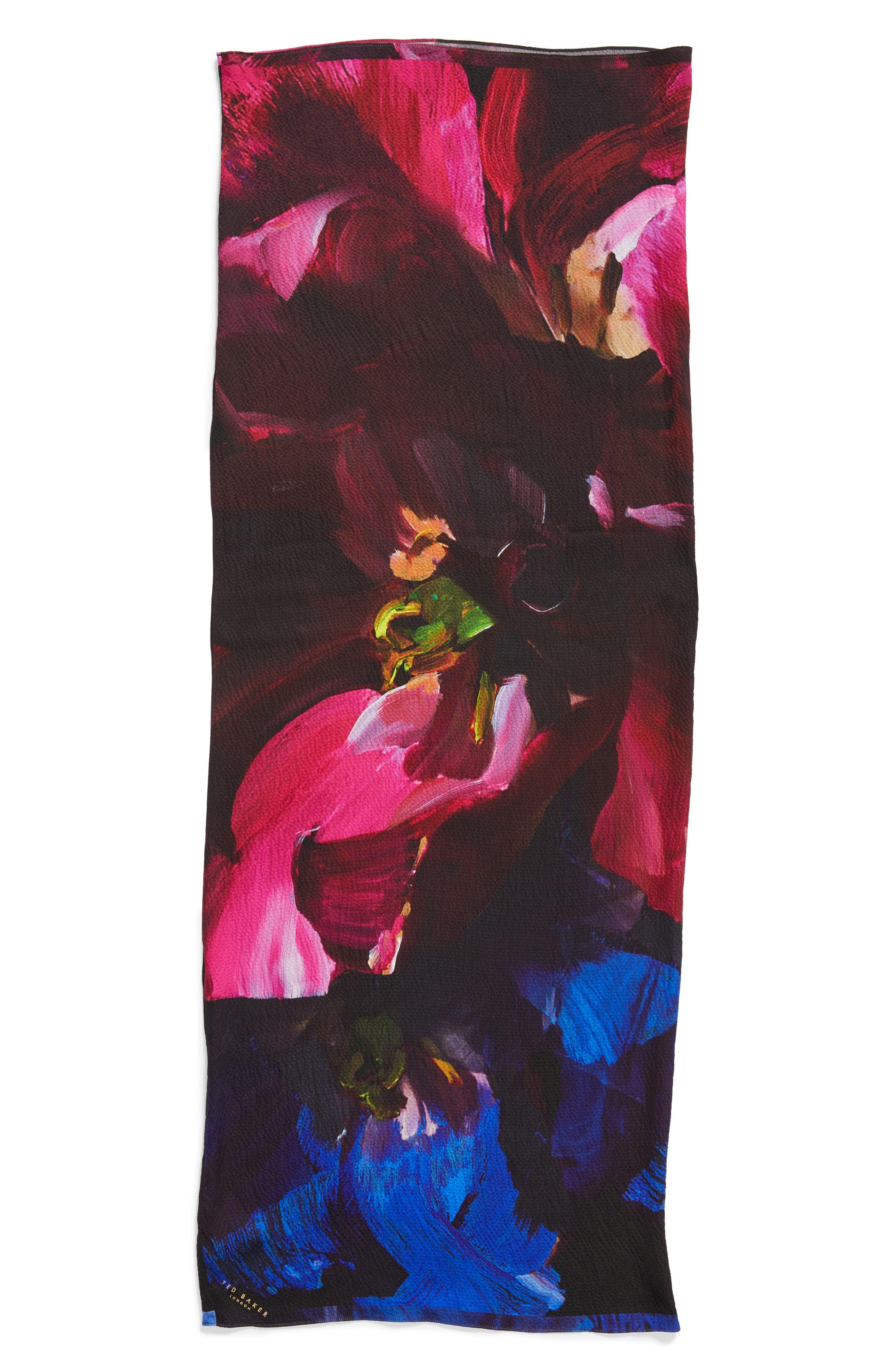 Alternate Image 5  - Ted Baker London Impressionist Bloom Silk Cape Scarf