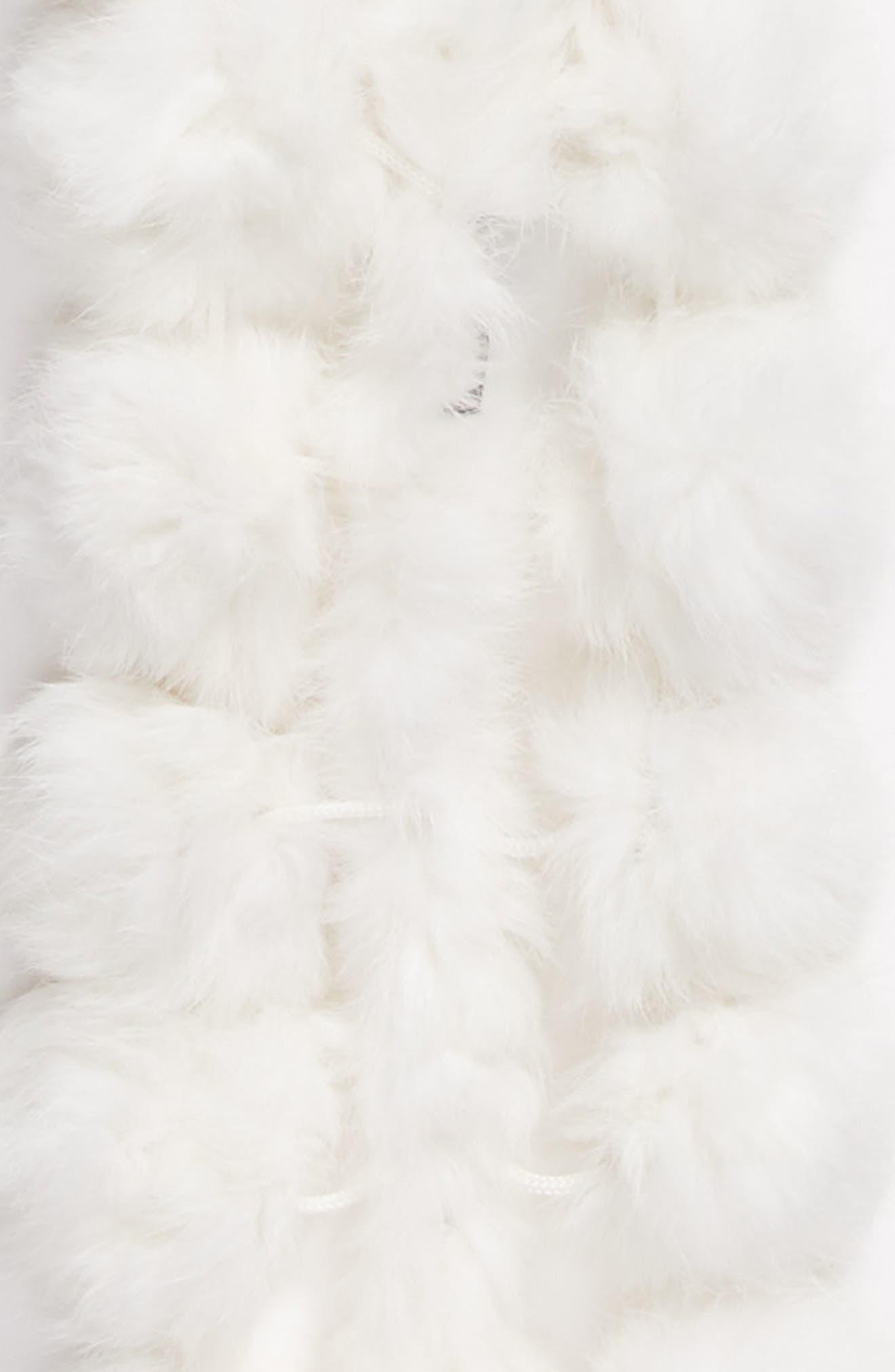Alternate Image 4  - Love Token Genuine Rabbit Fur Scarf