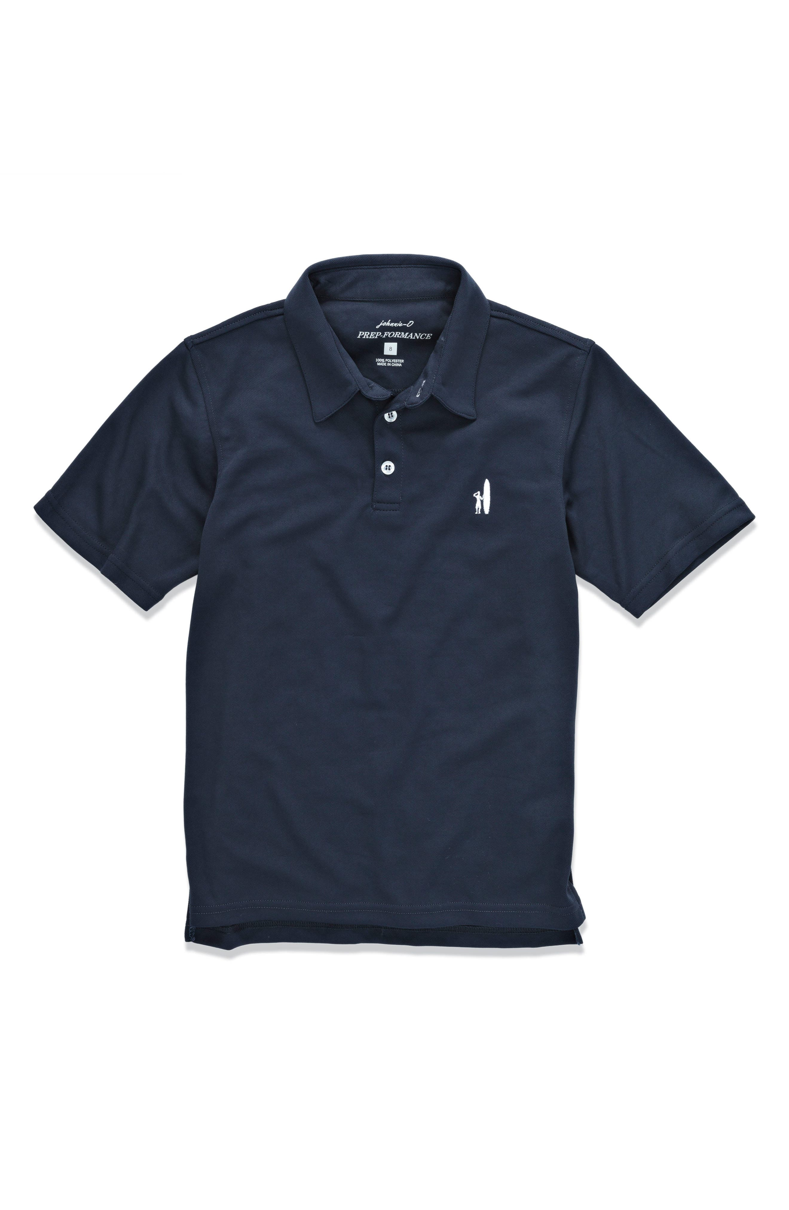 Alternate Image 1 Selected - johnnie-O Fairway Solid Polo (Little Boys & Big Boys)