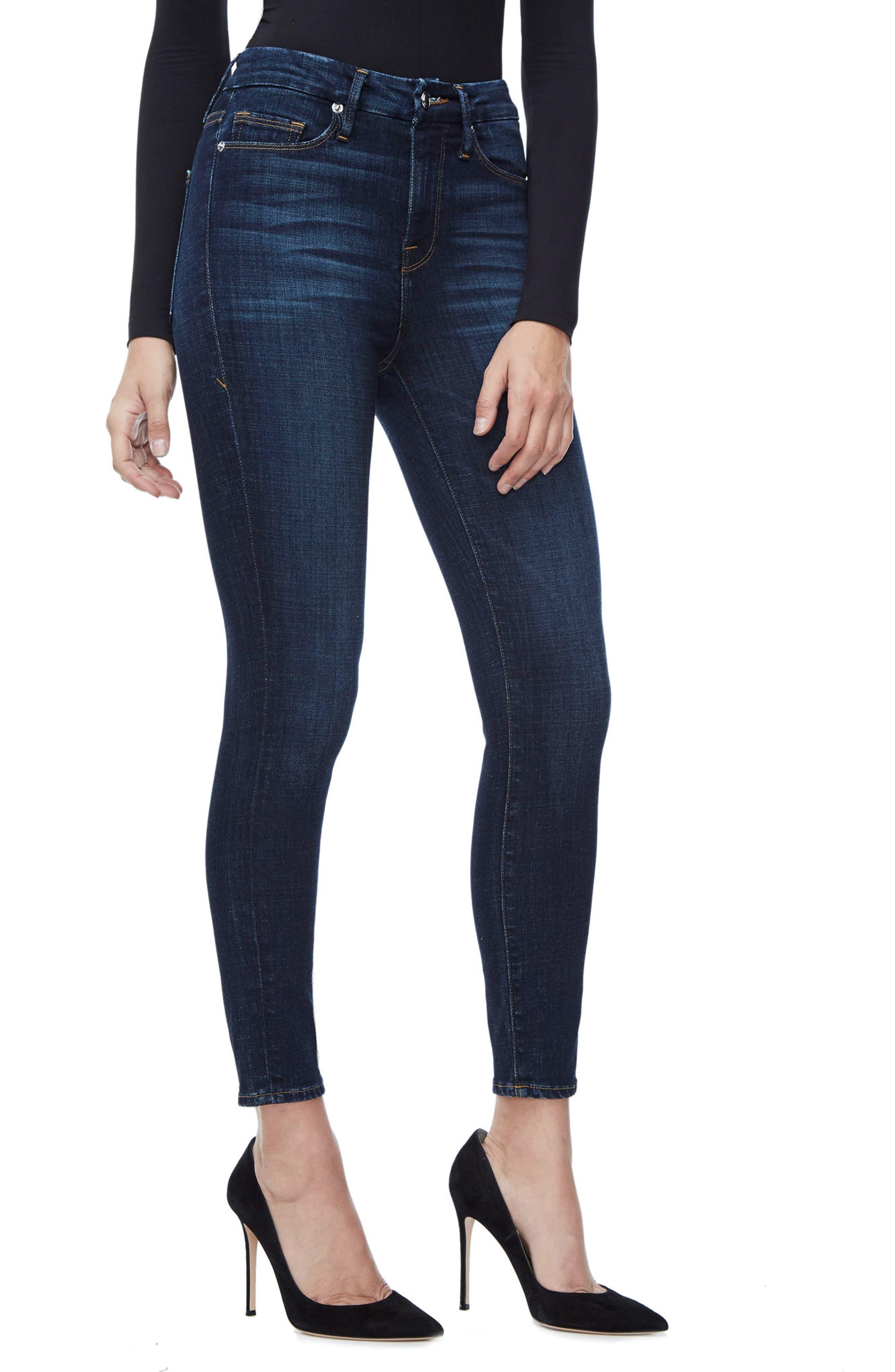 Alternate Image 3  - Good American Good Legs High Waist Ankle Skinny Jeans (Blue 089) (Regular & Plus Size)