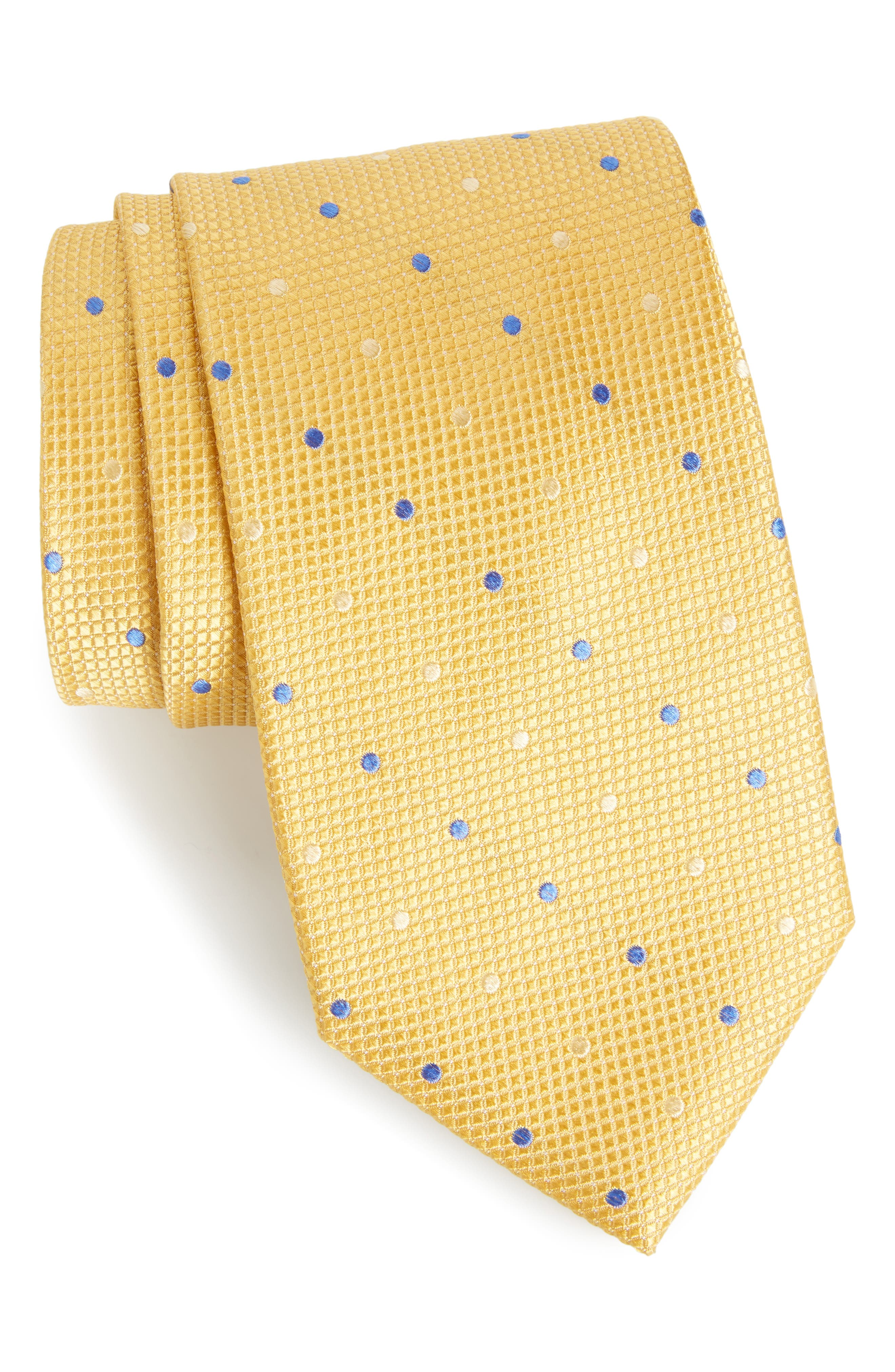 Alternate Image 1 Selected - Nordstrom Men's Shop Graphic Dots Silk Tie (X-Long)