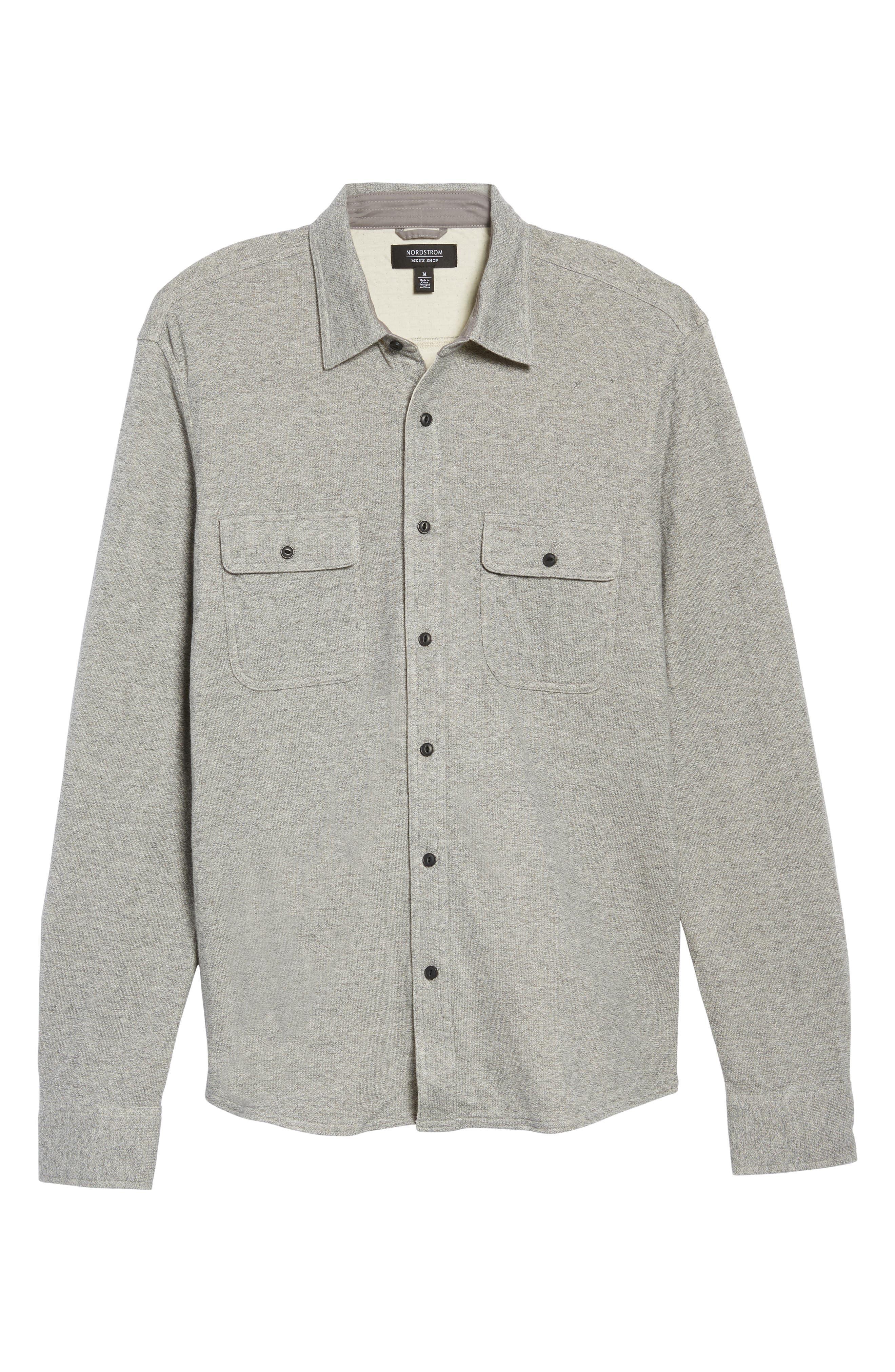 Alternate Image 6  - Nordstrom Men's Shop Trim Fit Knit Sport Shirt (Tall)
