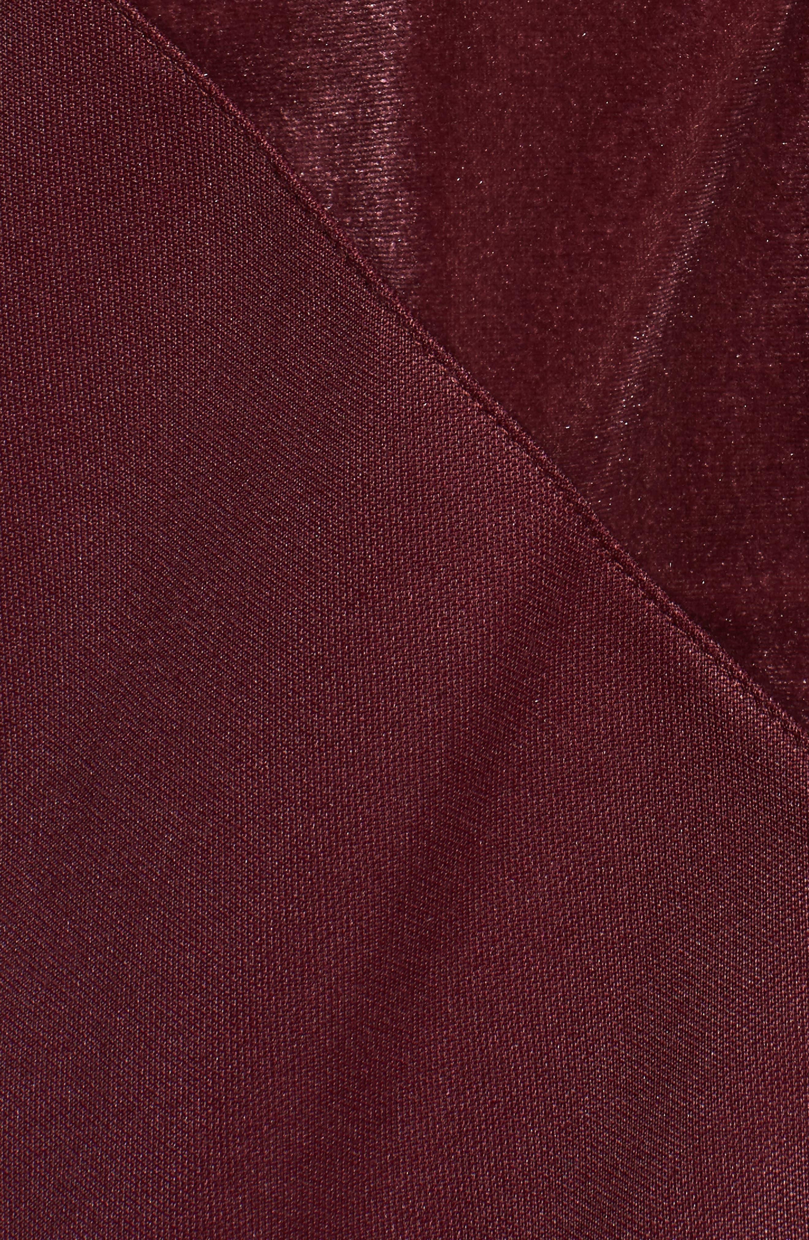 Velvet Zip Sweatshirt,                             Alternate thumbnail 6, color,                             Maroon