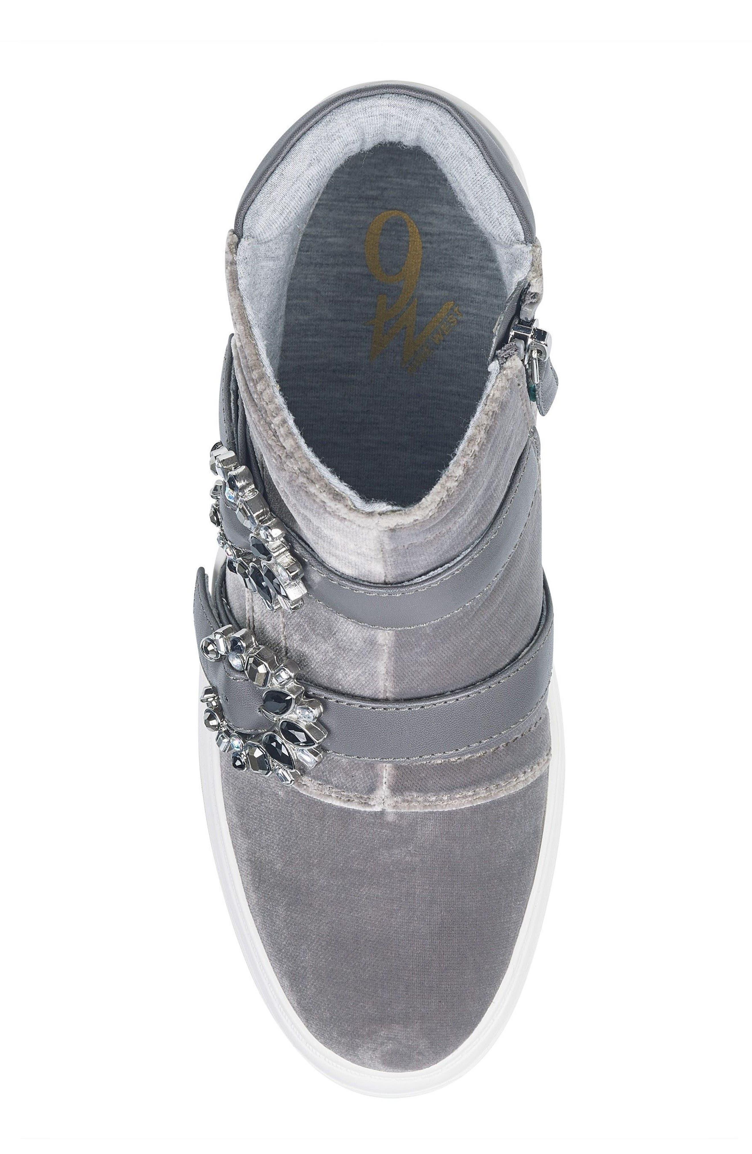 Alternate Image 5  - Nine West Orisna High Top Sneaker (Women)
