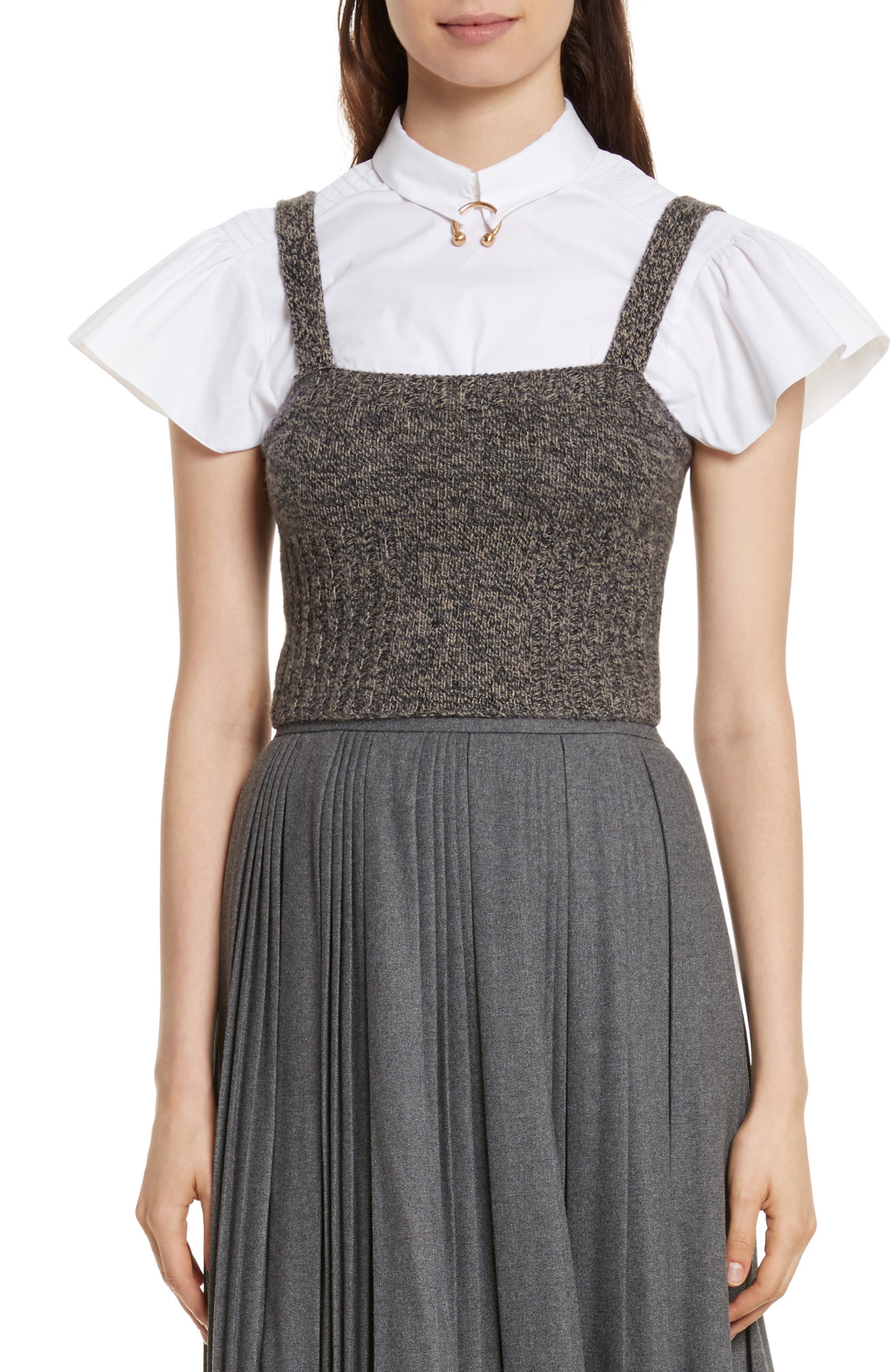 Main Image - RED Valentino Mouline Wool Blend Sweater Tank