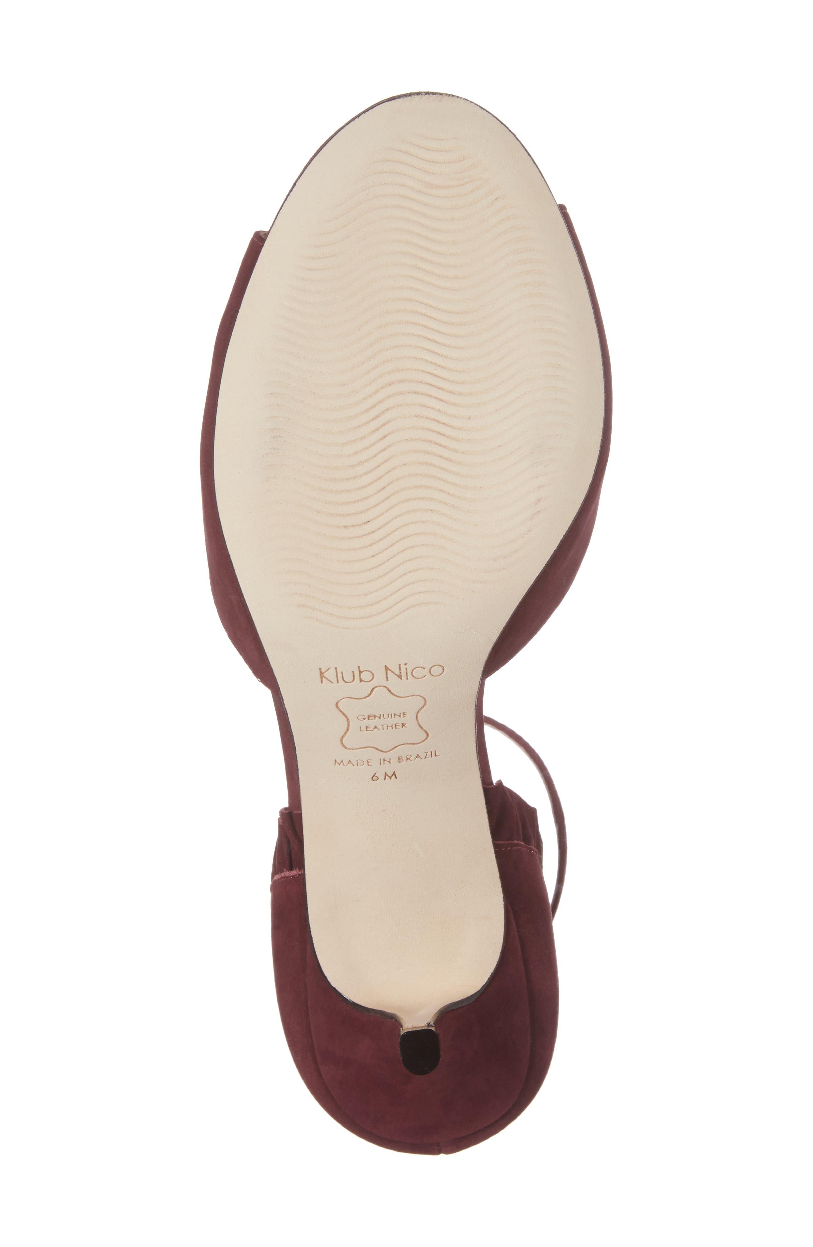 Alisa d'Orsay Sandal,                             Alternate thumbnail 6, color,                             Wine Nubuck Leather