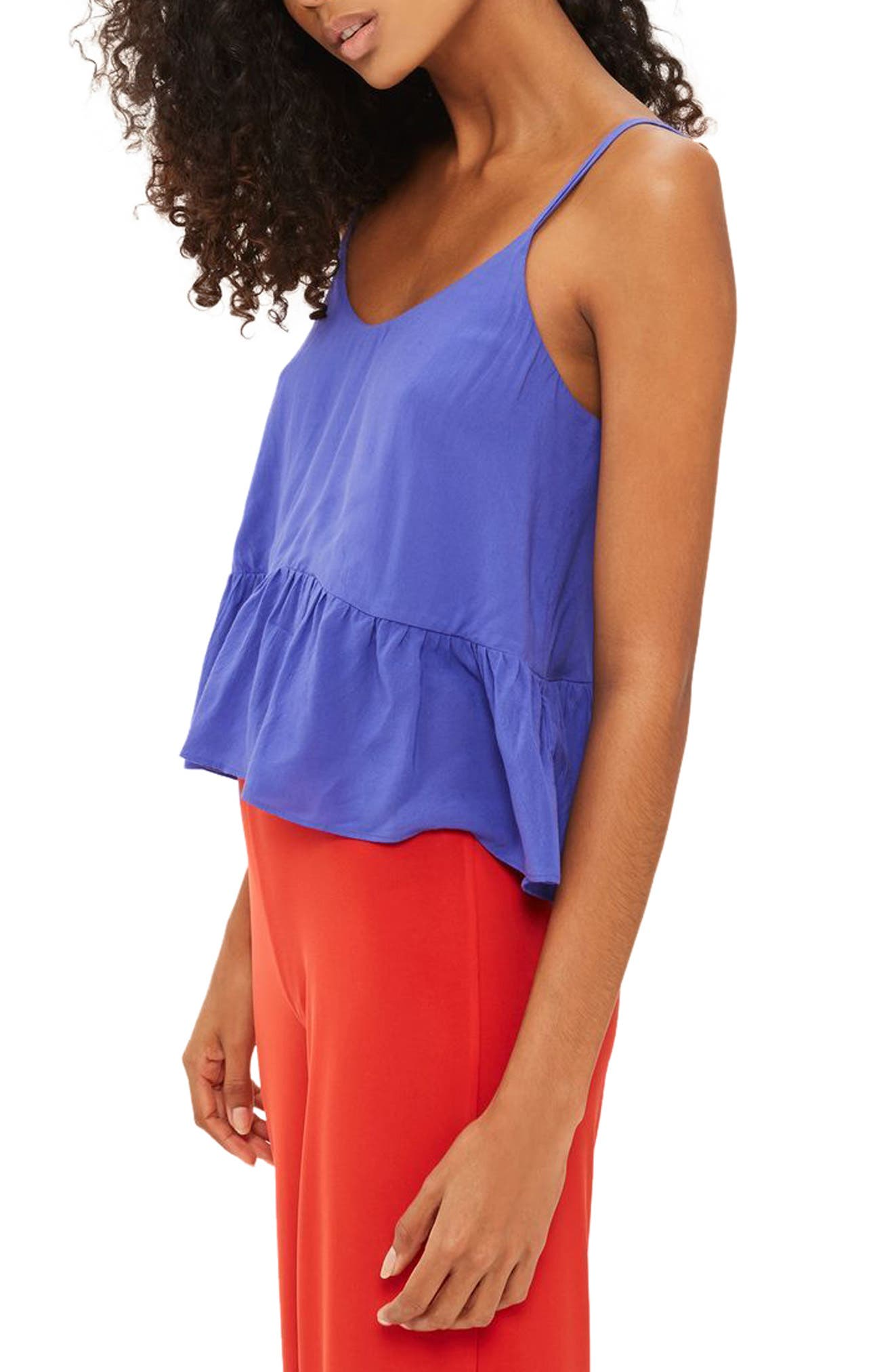 Alternate Image 1 Selected - Topshop Peplum Camisole (Regular & Petite)
