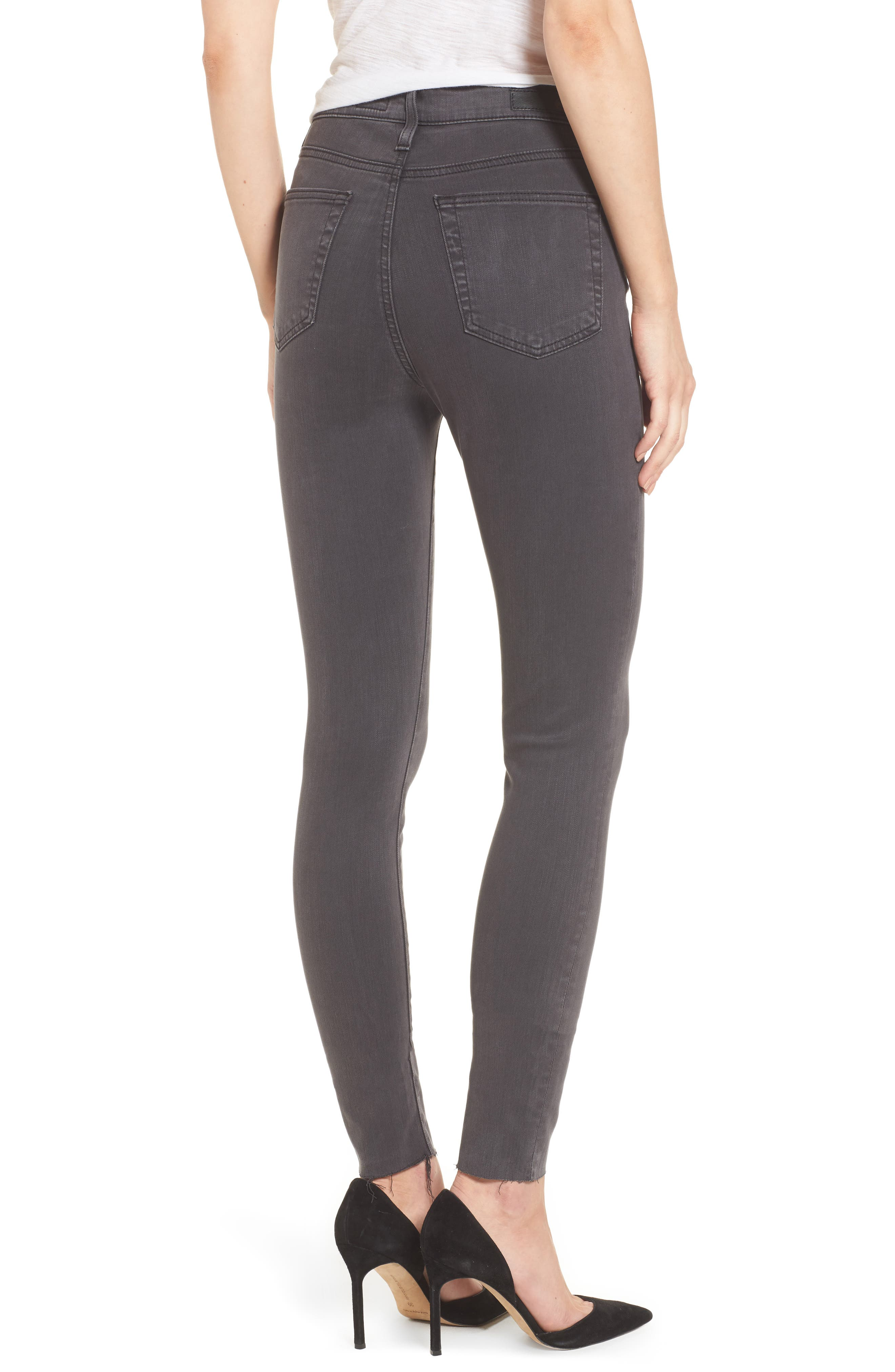 Mila High Rise Skinny Jeans,                             Alternate thumbnail 2, color,                             Interstellar Black