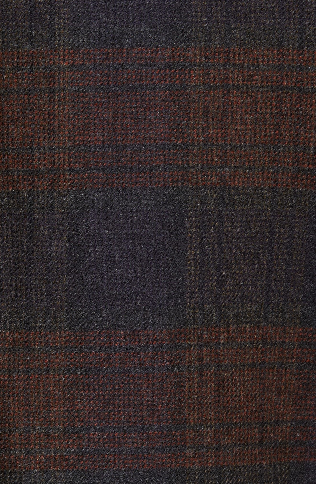 Plaid Wool Sport Coat,                             Alternate thumbnail 5, color,                             Charcoal