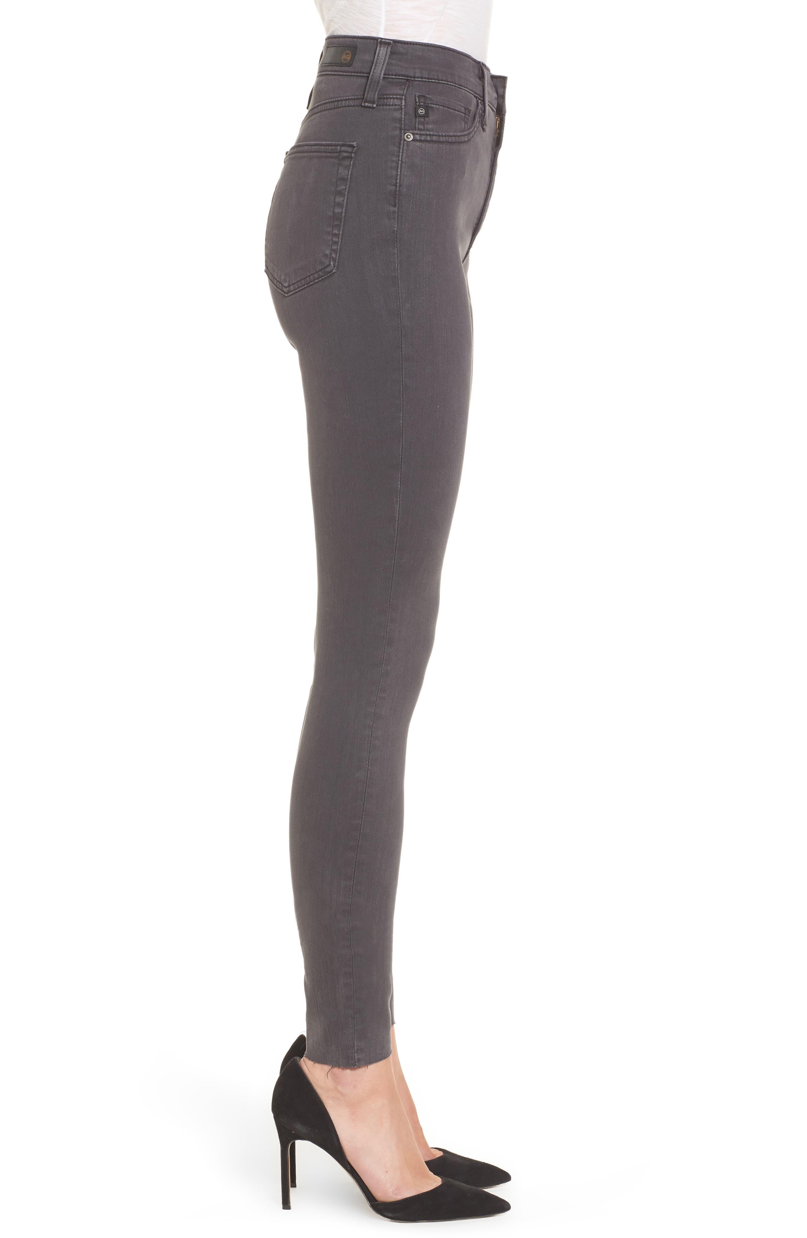 Mila High Rise Skinny Jeans,                             Alternate thumbnail 3, color,                             Interstellar Black