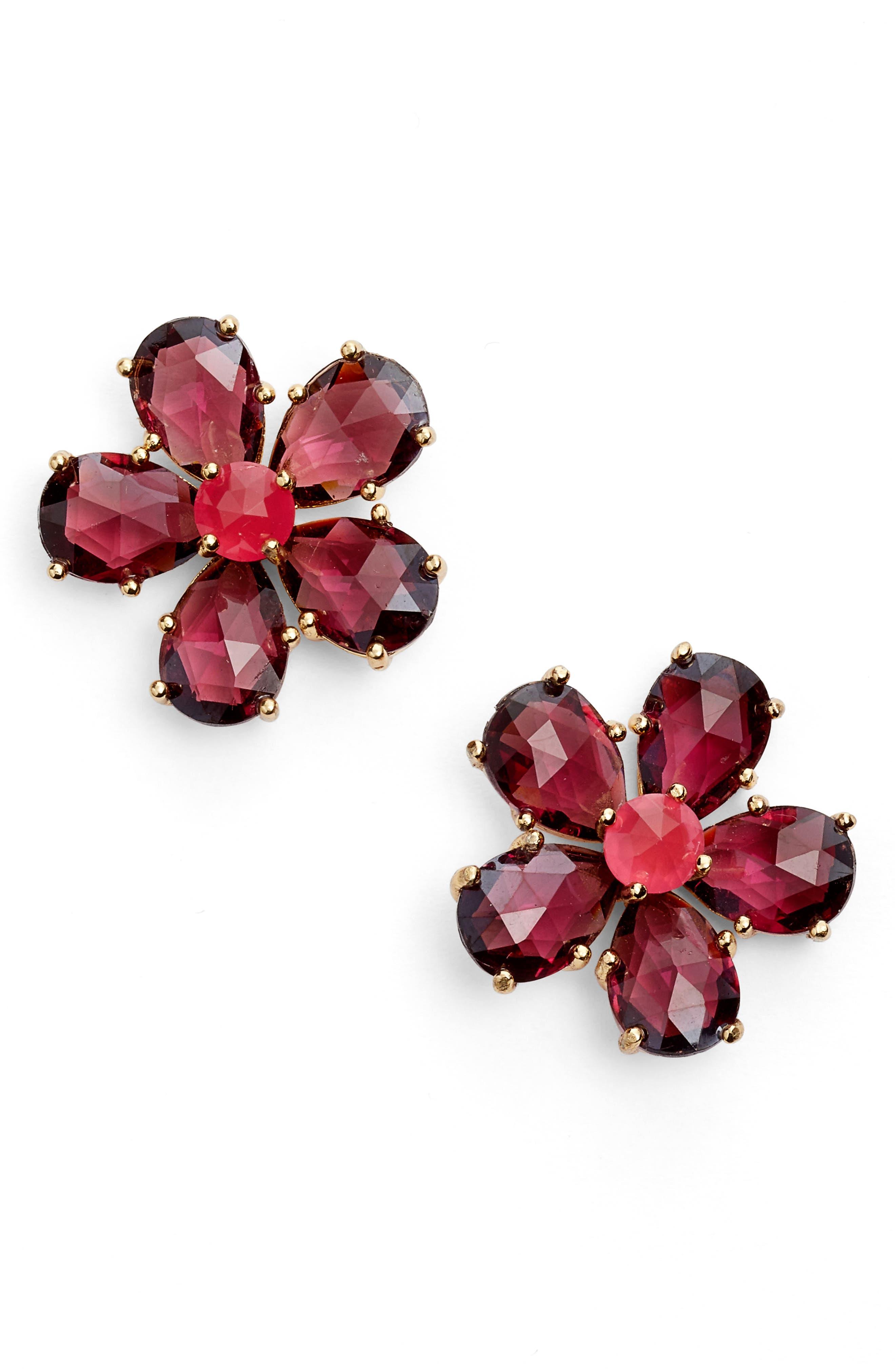 kate spade new york in full bloom statement stud earrings