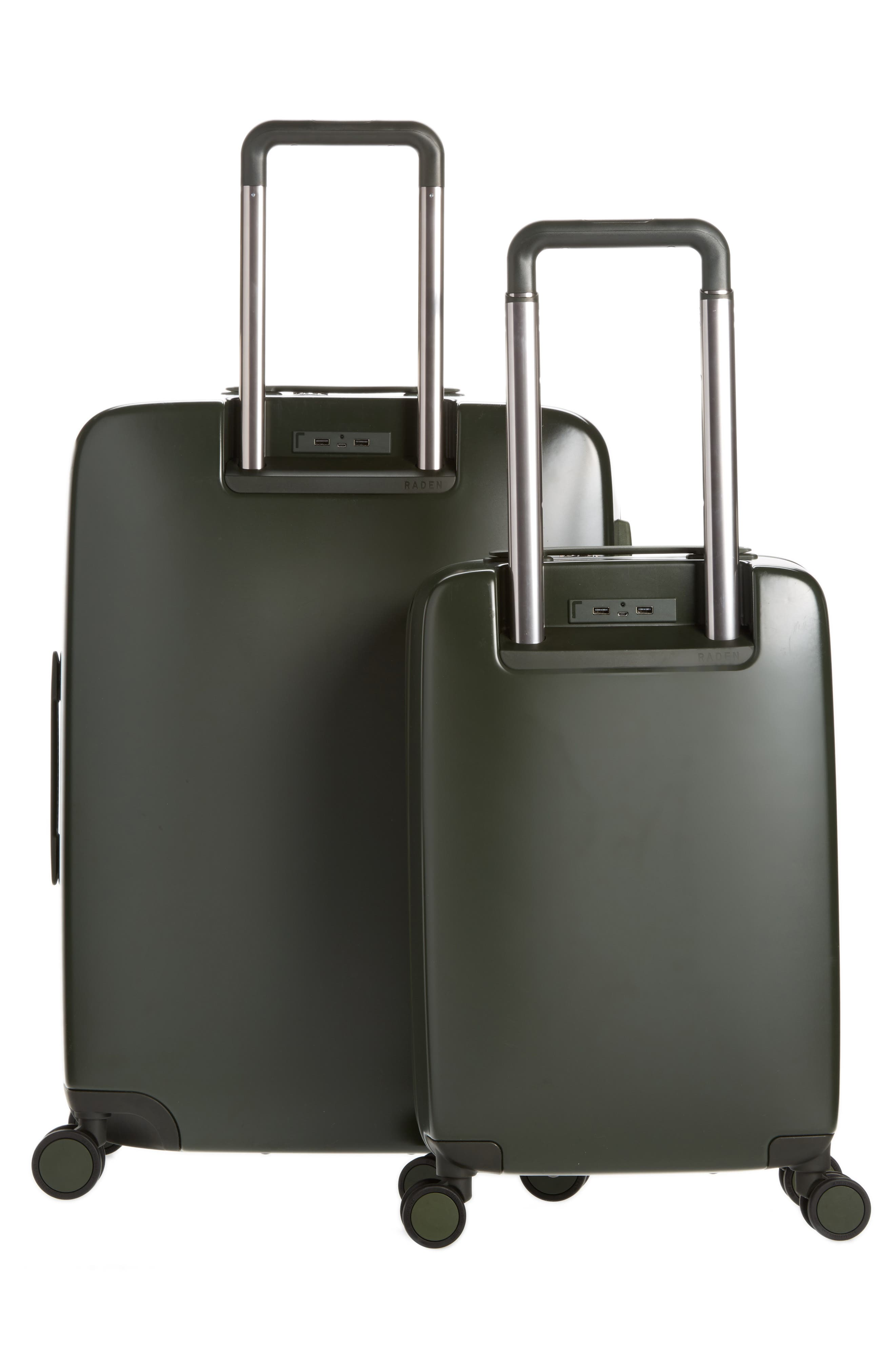 The A50 28-Inch & 22-Inch 2-Piece Luggage Set,                             Alternate thumbnail 2, color,                             Hunter Green Matte