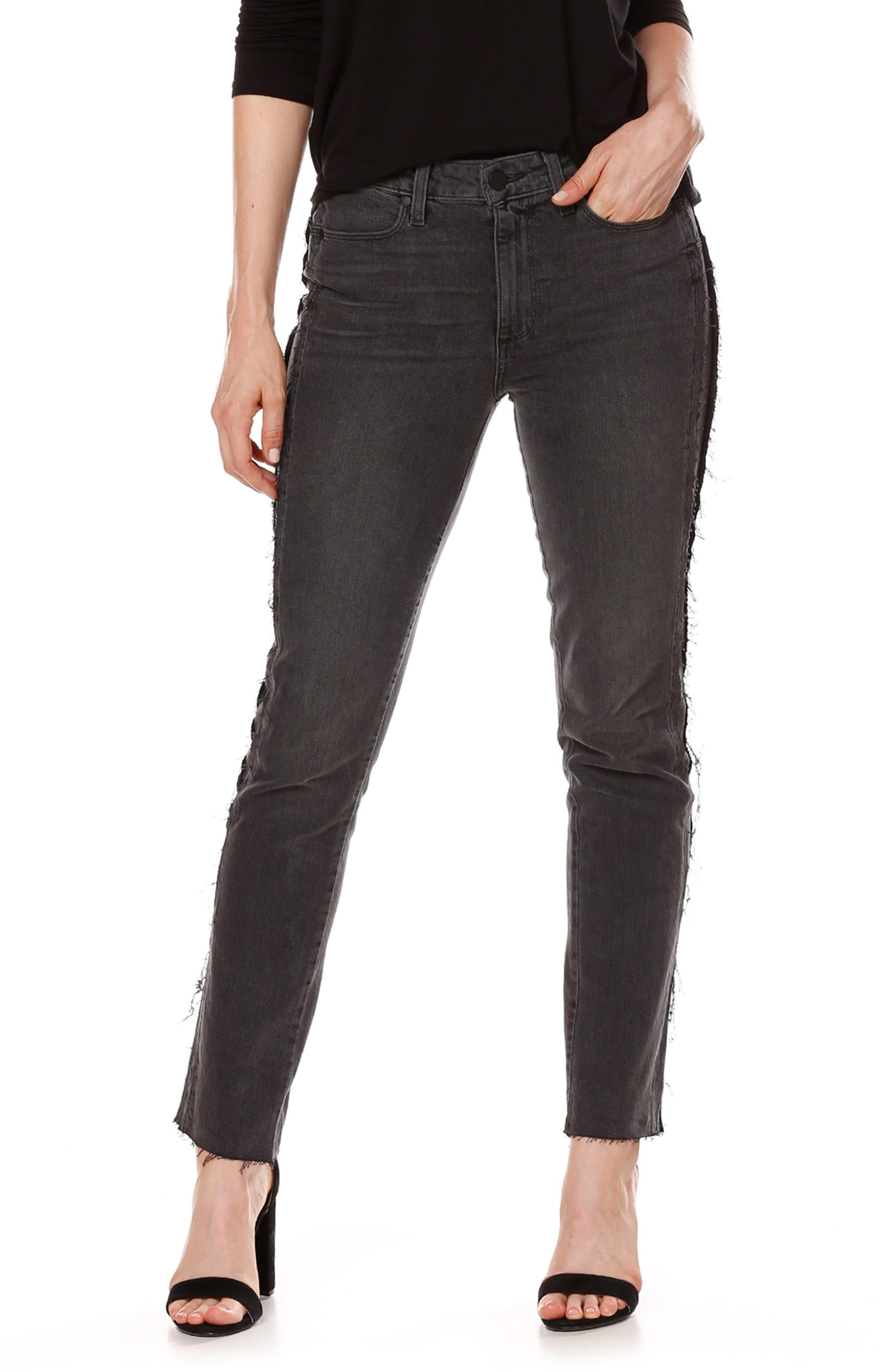 Alternate Image 4  - PAIGE Julia Tux Straight Leg Jeans (Midnight Racer)