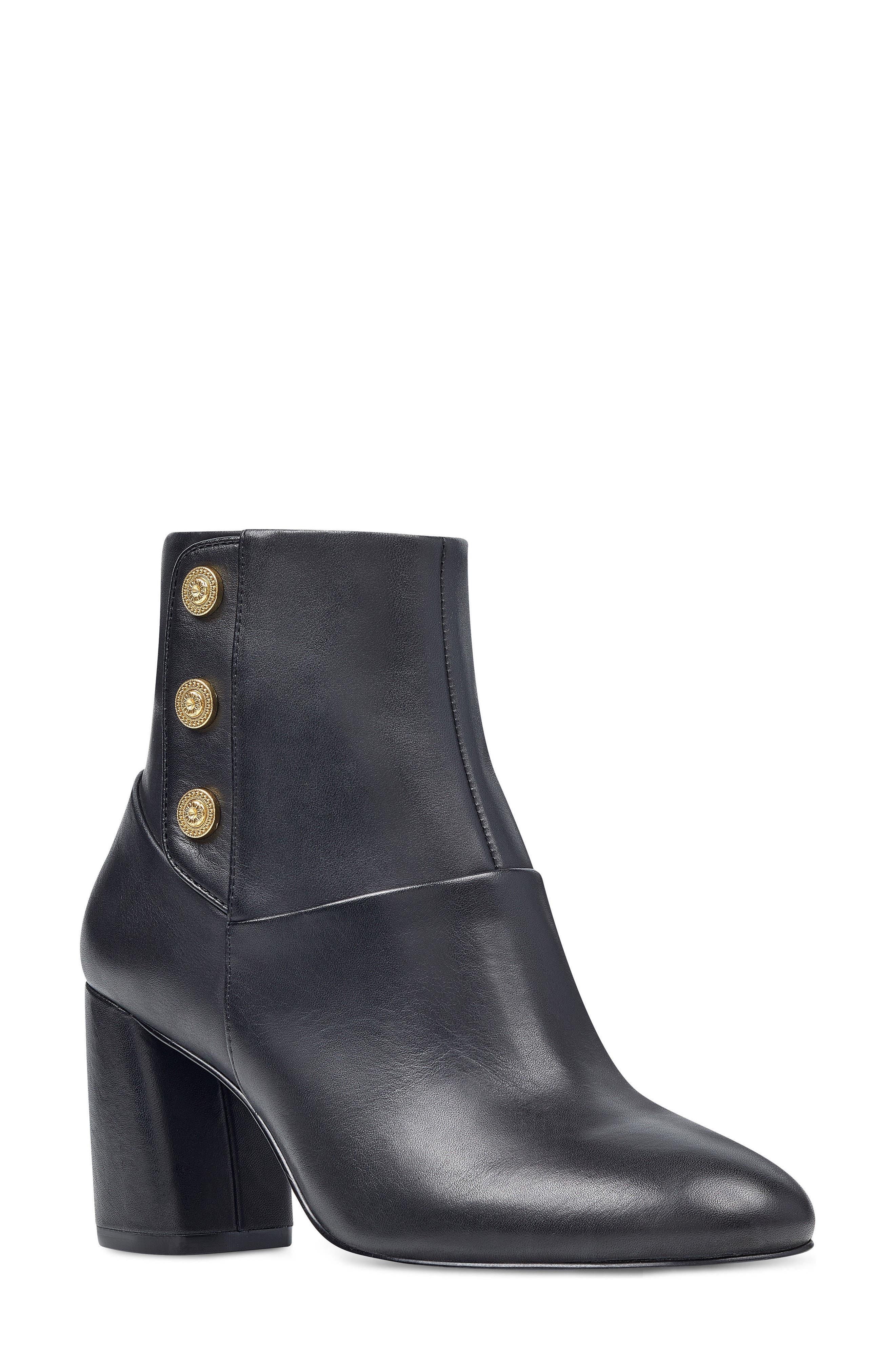 Kirtley Bootie,                         Main,                         color, Black Leather
