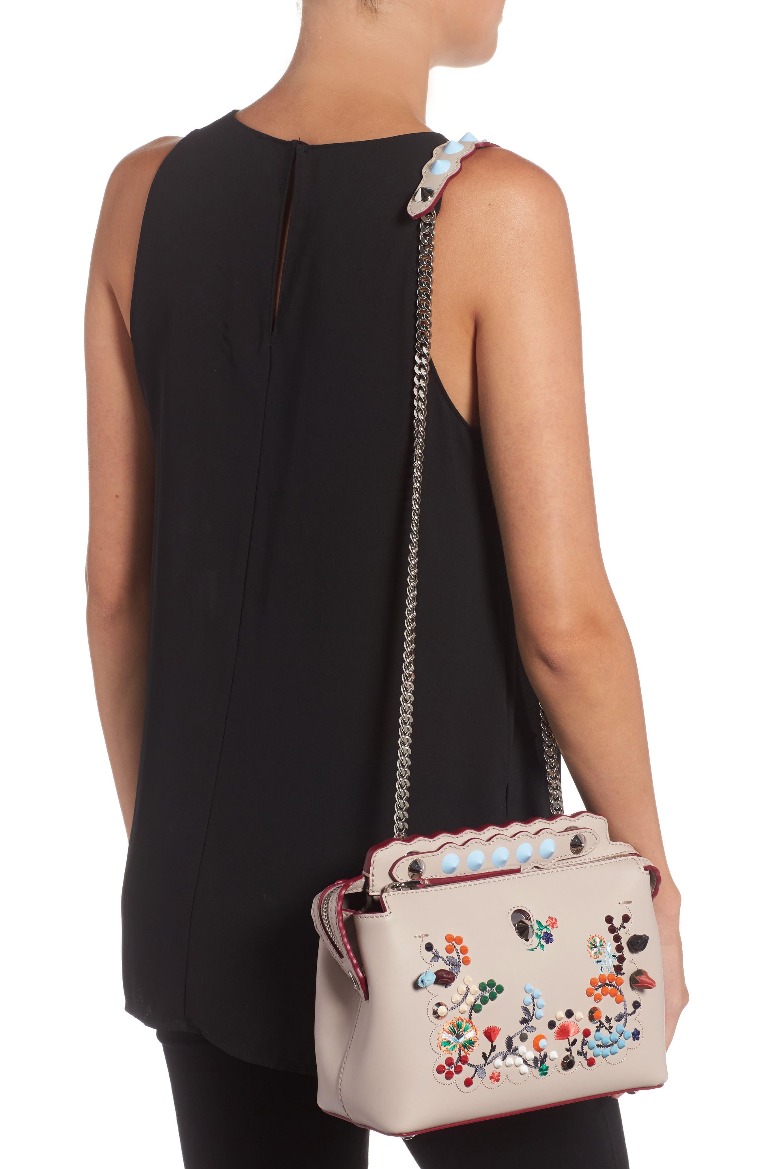 Small Dotcom Leather Shoulder Bag,                             Alternate thumbnail 2, color,                             Black Palladium