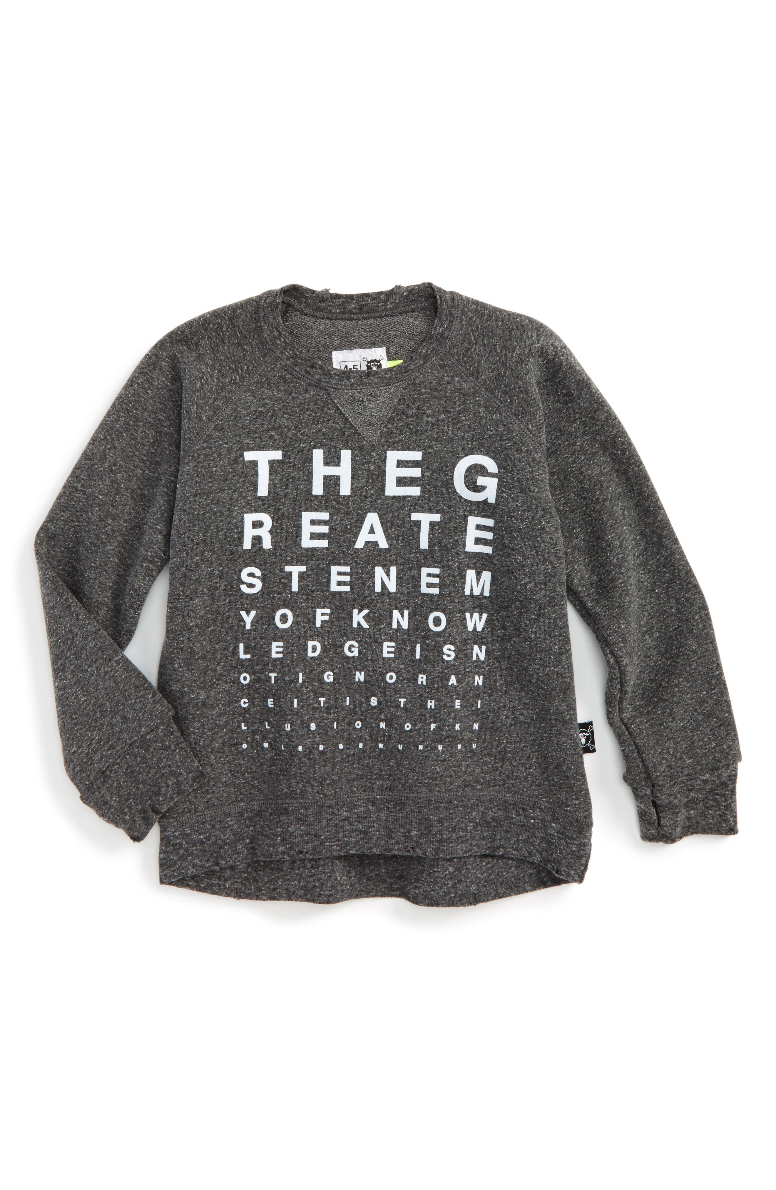 NUNUNU Vision Test Sweatshirt (Toddler Boys & Little Boys)