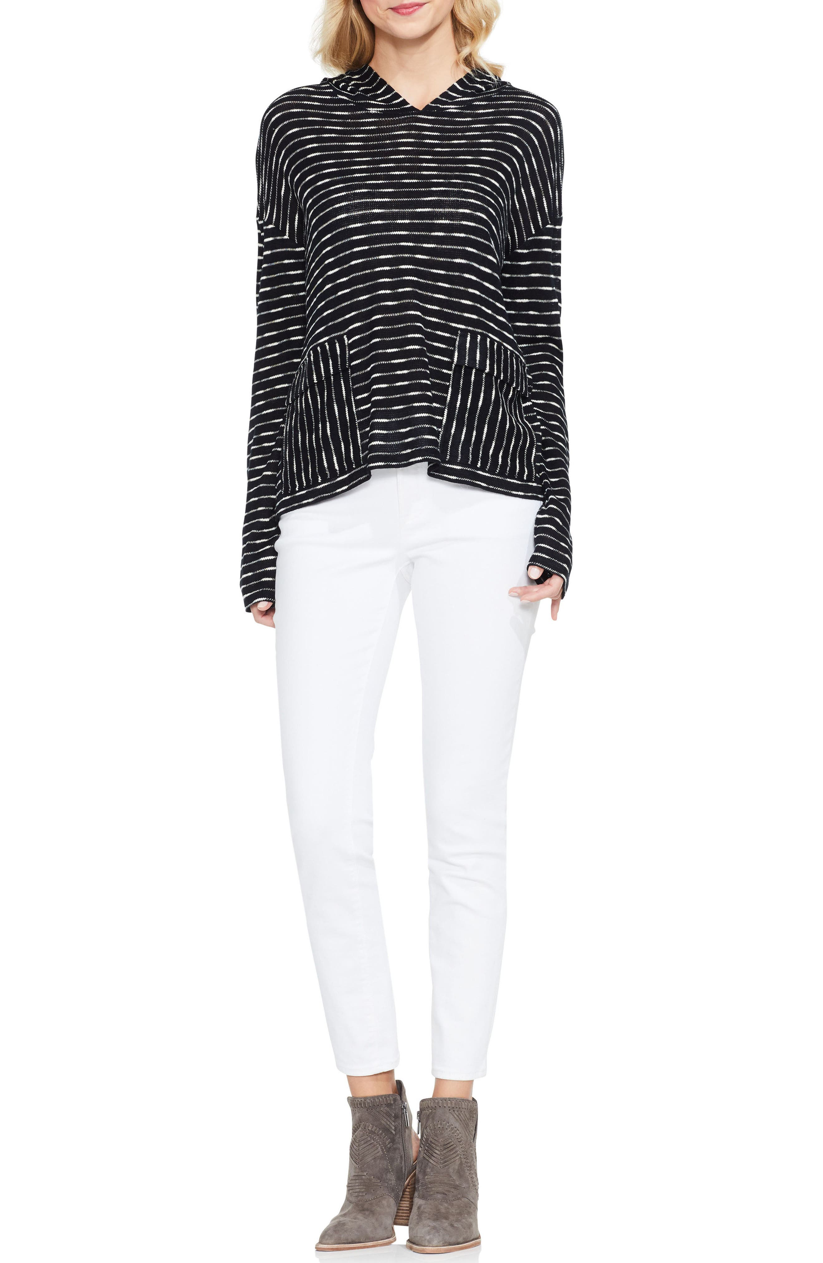 Alternate Image 2  - Two by Vince Camuto Stripe Hoodie