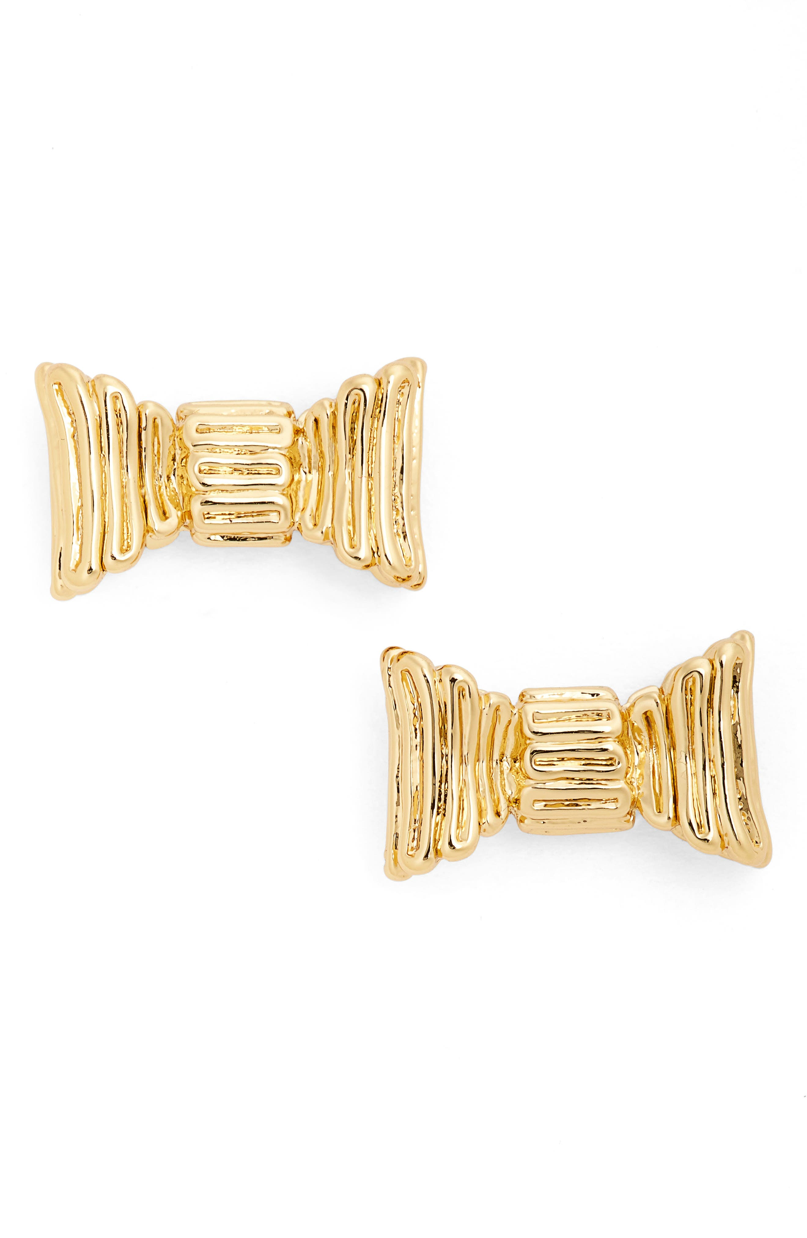 all wrapped up stud earrings,                         Main,                         color, Gold