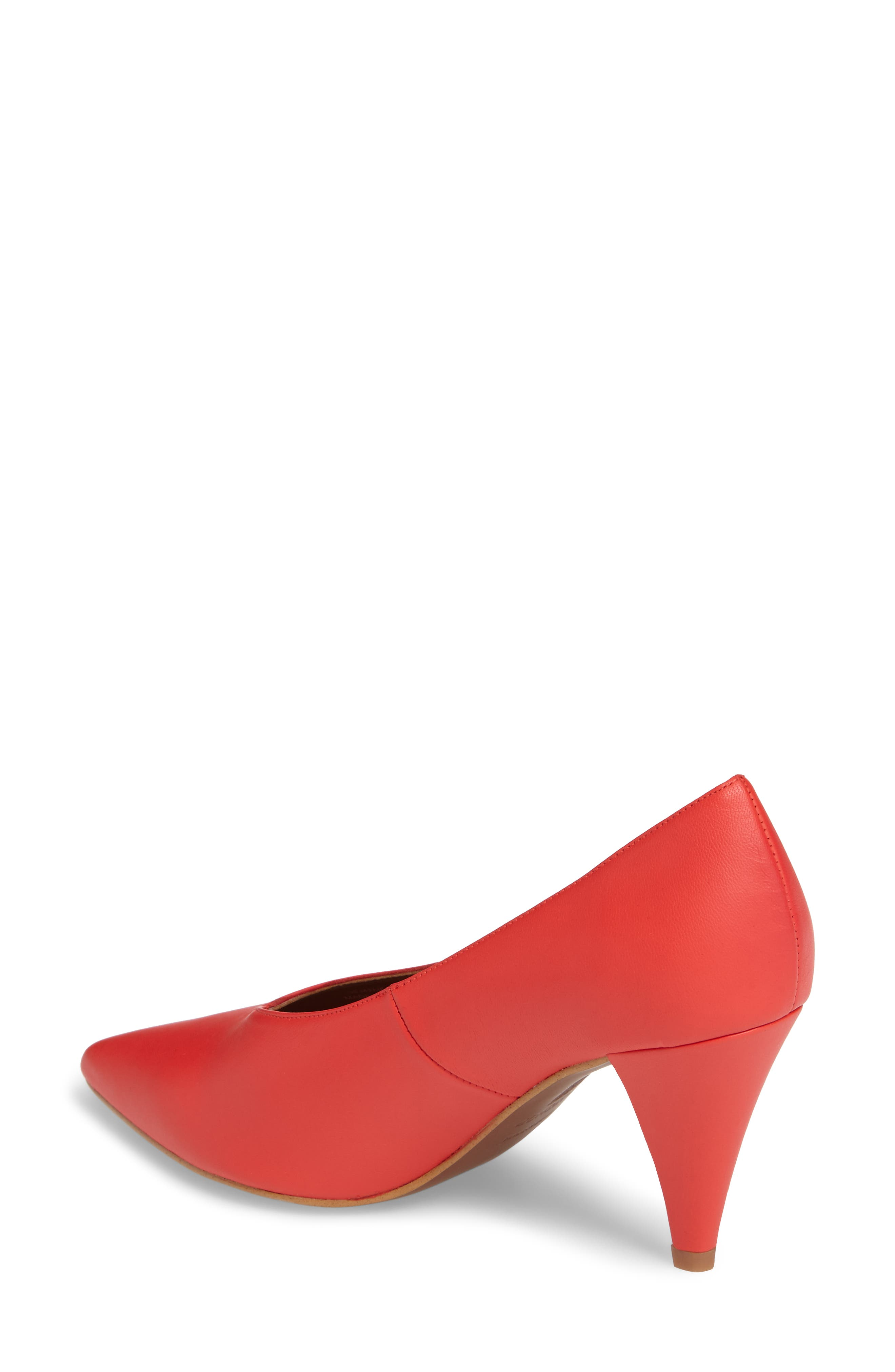 Journal Pointy Toe Pump,                             Alternate thumbnail 2, color,                             Red