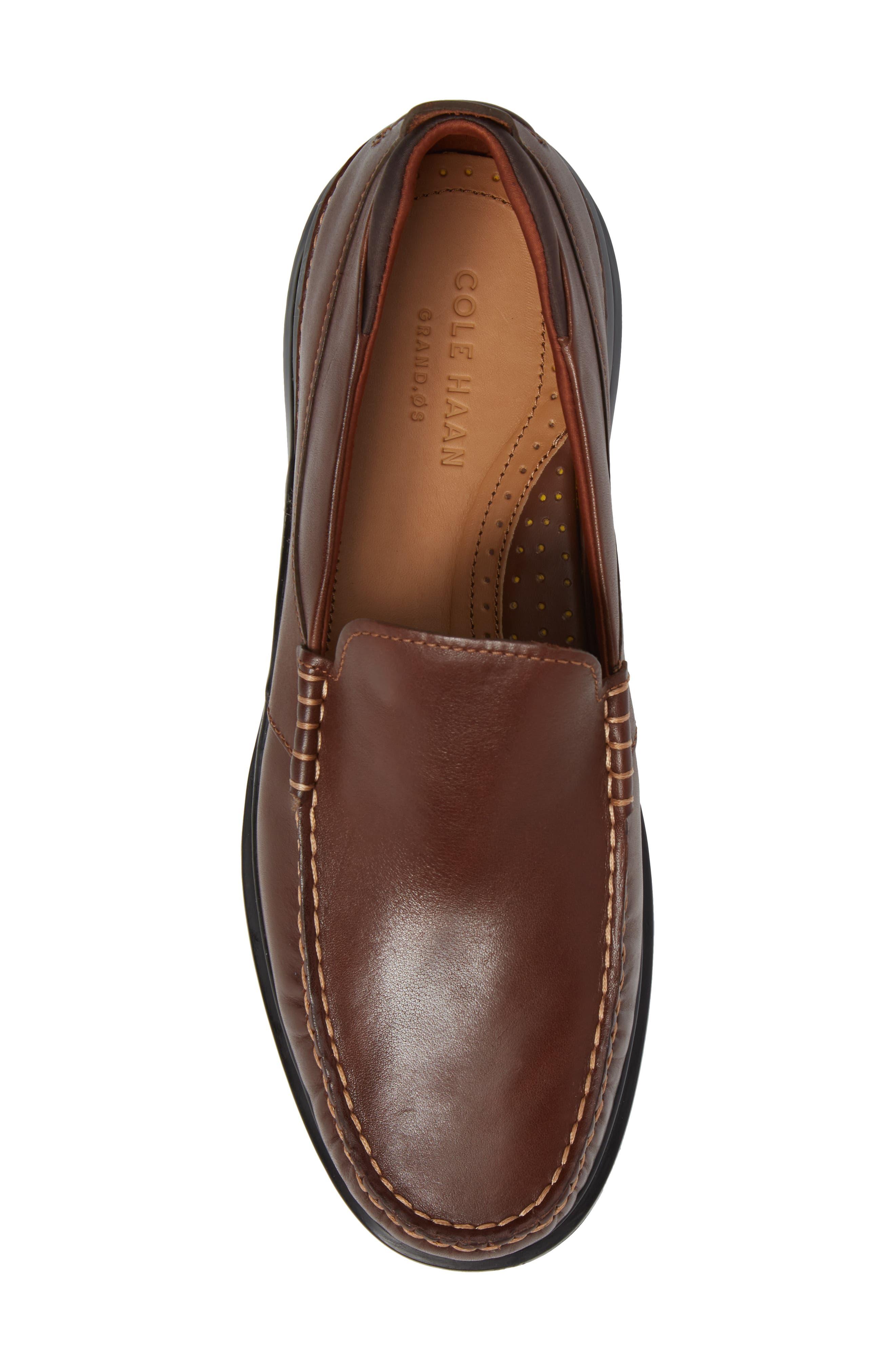 Bancroft Loafer,                             Alternate thumbnail 5, color,                             Harvest Brown Leather