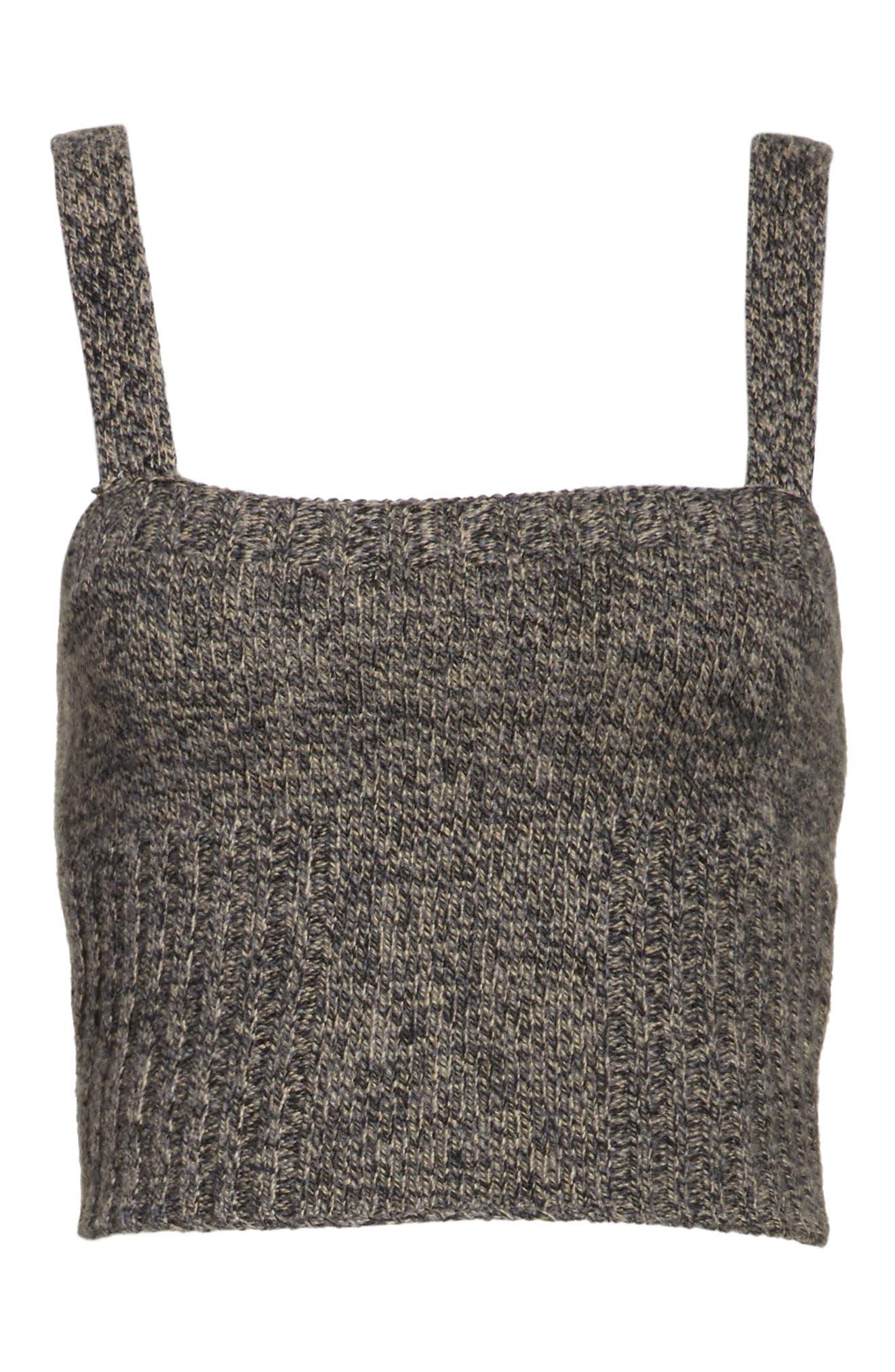 Mouline Wool Blend Sweater Tank,                             Alternate thumbnail 7, color,                             Deserto/ Nero